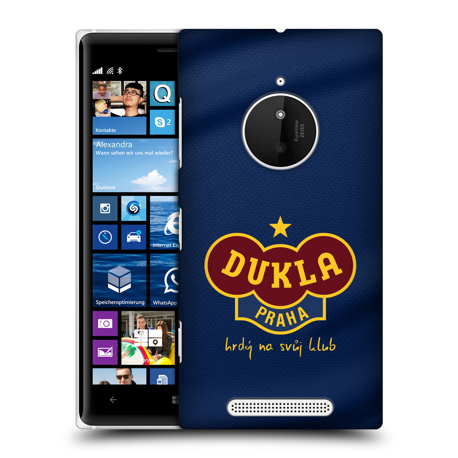 Plastové pouzdro na mobil Nokia Lumia 830 - FK Dukla Praha - Modrý dres