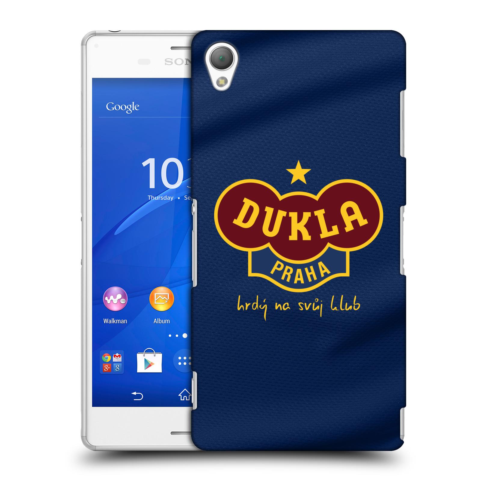 Plastové pouzdro na mobil Sony Xperia Z3 D6603 - FK Dukla Praha - Modrý dres