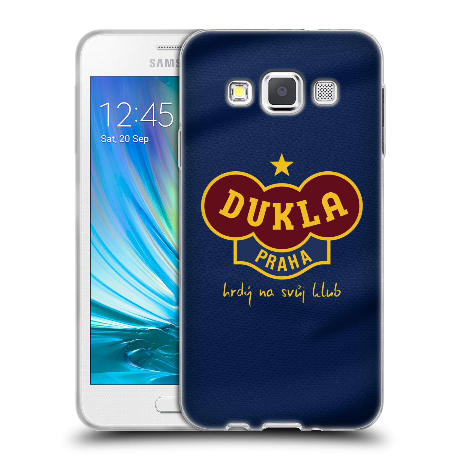 Silikonové pouzdro na mobil Samsung Galaxy A3 - FK Dukla Praha - Modrý dres
