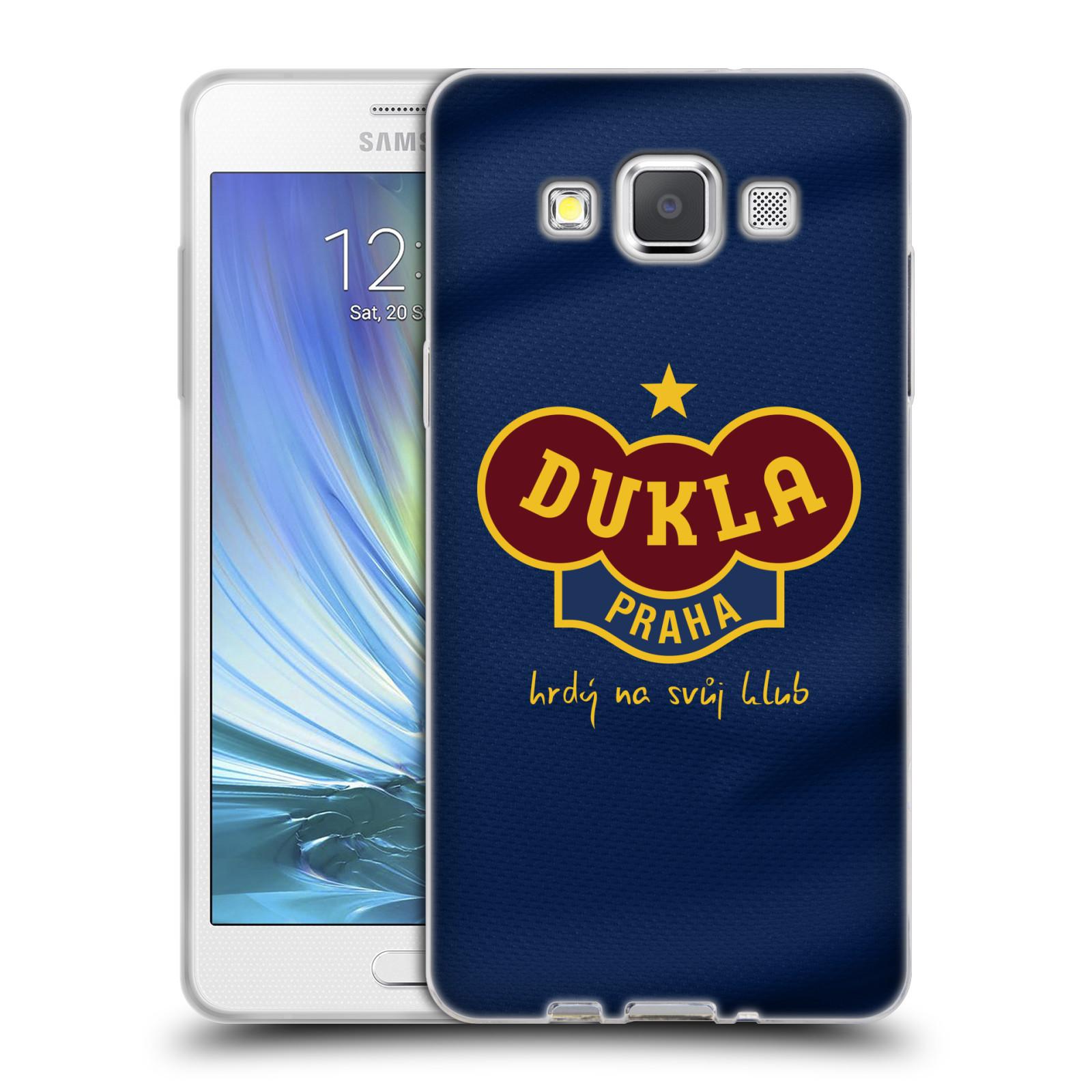 Silikonové pouzdro na mobil Samsung Galaxy A5 - FK Dukla Praha - Modrý dres