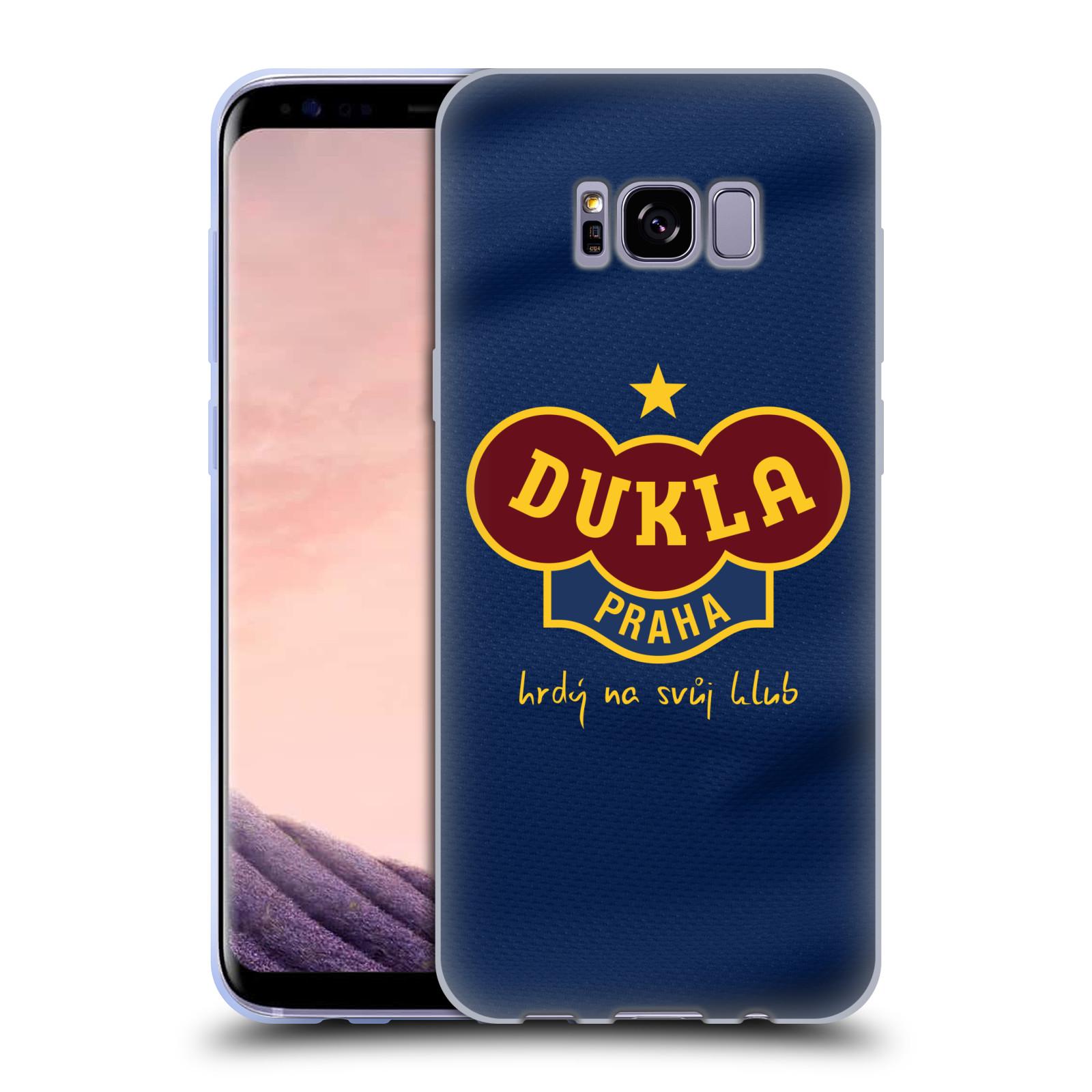 Silikonové pouzdro na mobil Samsung Galaxy S8+ (Plus) - FK Dukla Praha - Modrý dres