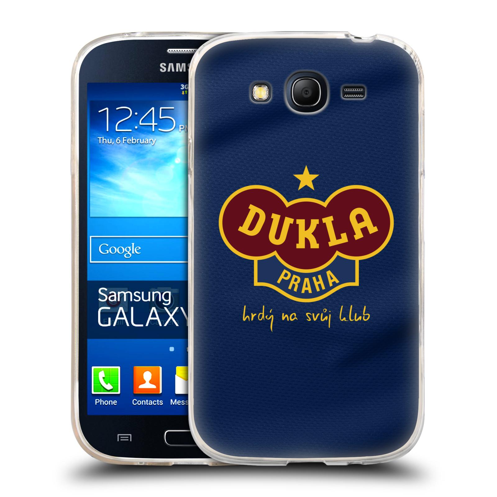 Silikonové pouzdro na mobil Samsung Galaxy Grand Neo Plus - FK Dukla Praha - Modrý dres