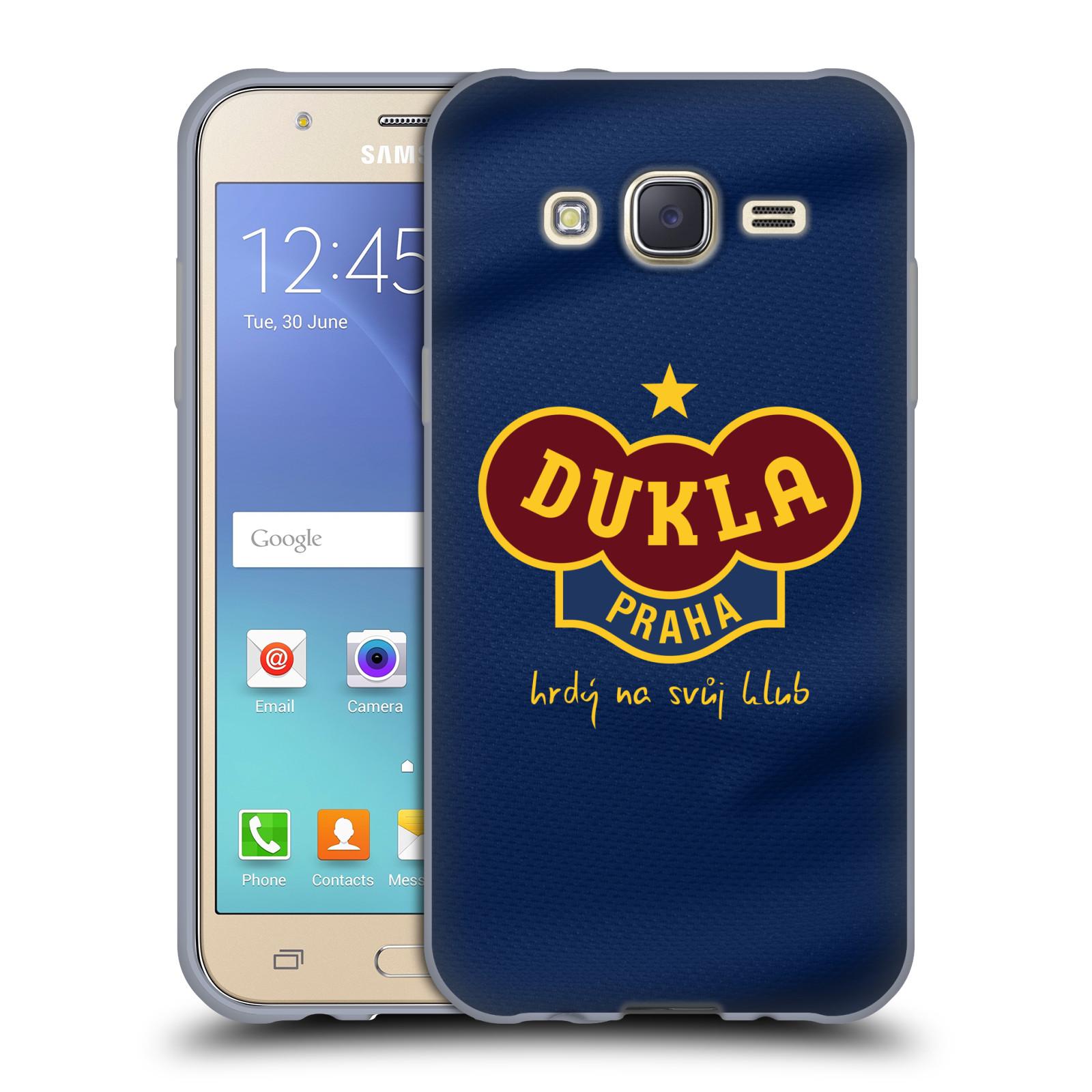 Silikonové pouzdro na mobil Samsung Galaxy J5 - FK Dukla Praha - Modrý dres