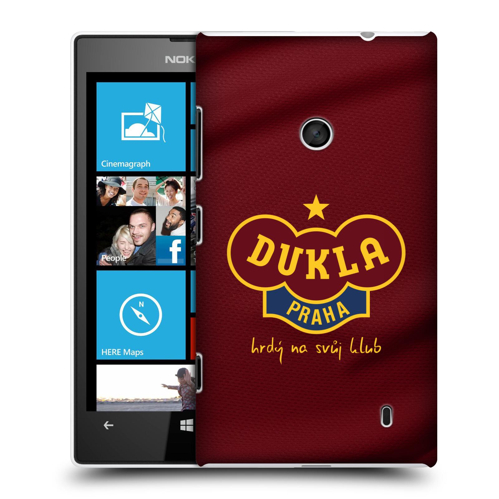 Plastové pouzdro na mobil Nokia Lumia 520 - FK Dukla Praha - Vínově červený dres