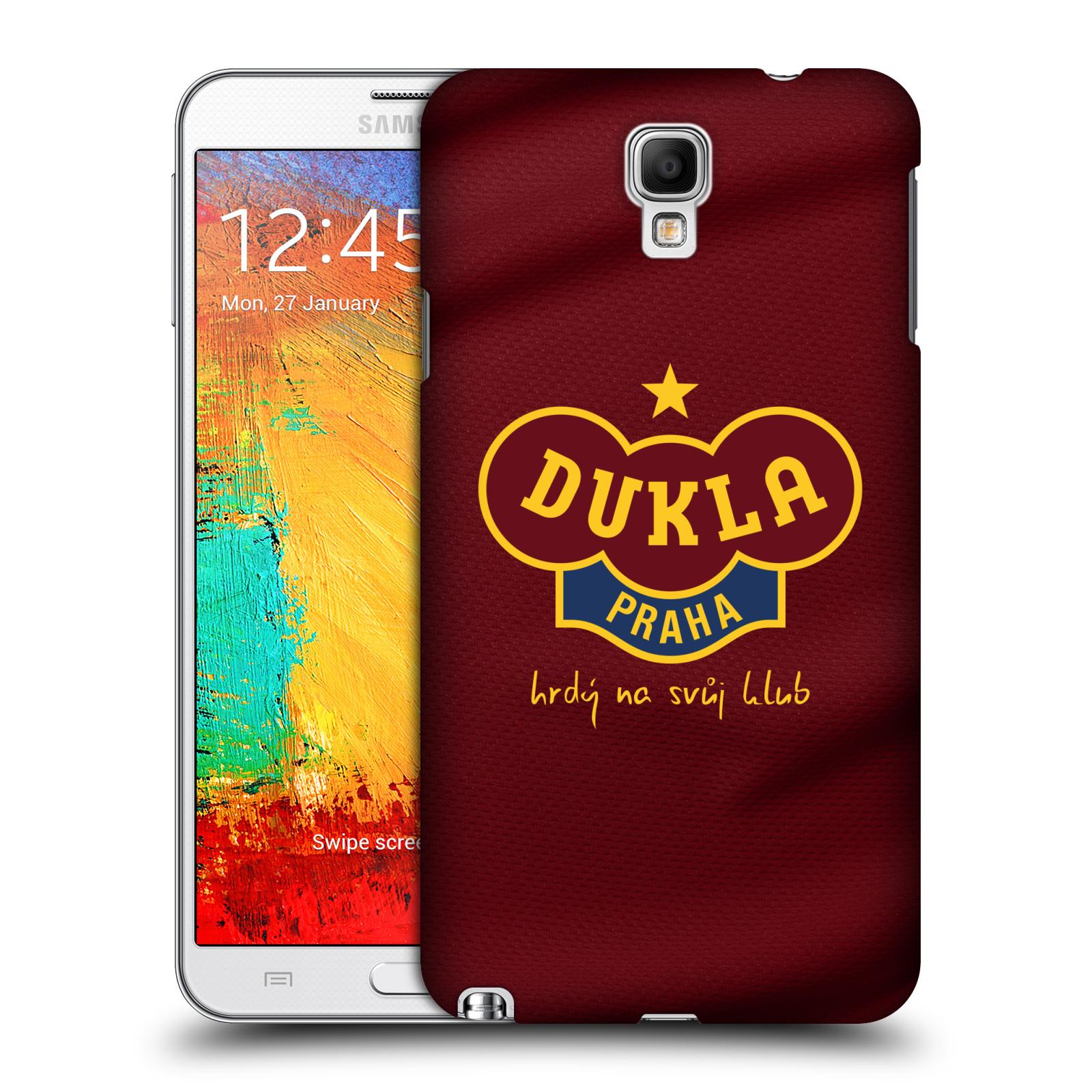 Plastové pouzdro na mobil Samsung Galaxy Note 3 Neo - FK Dukla Praha - Vínově červený dres