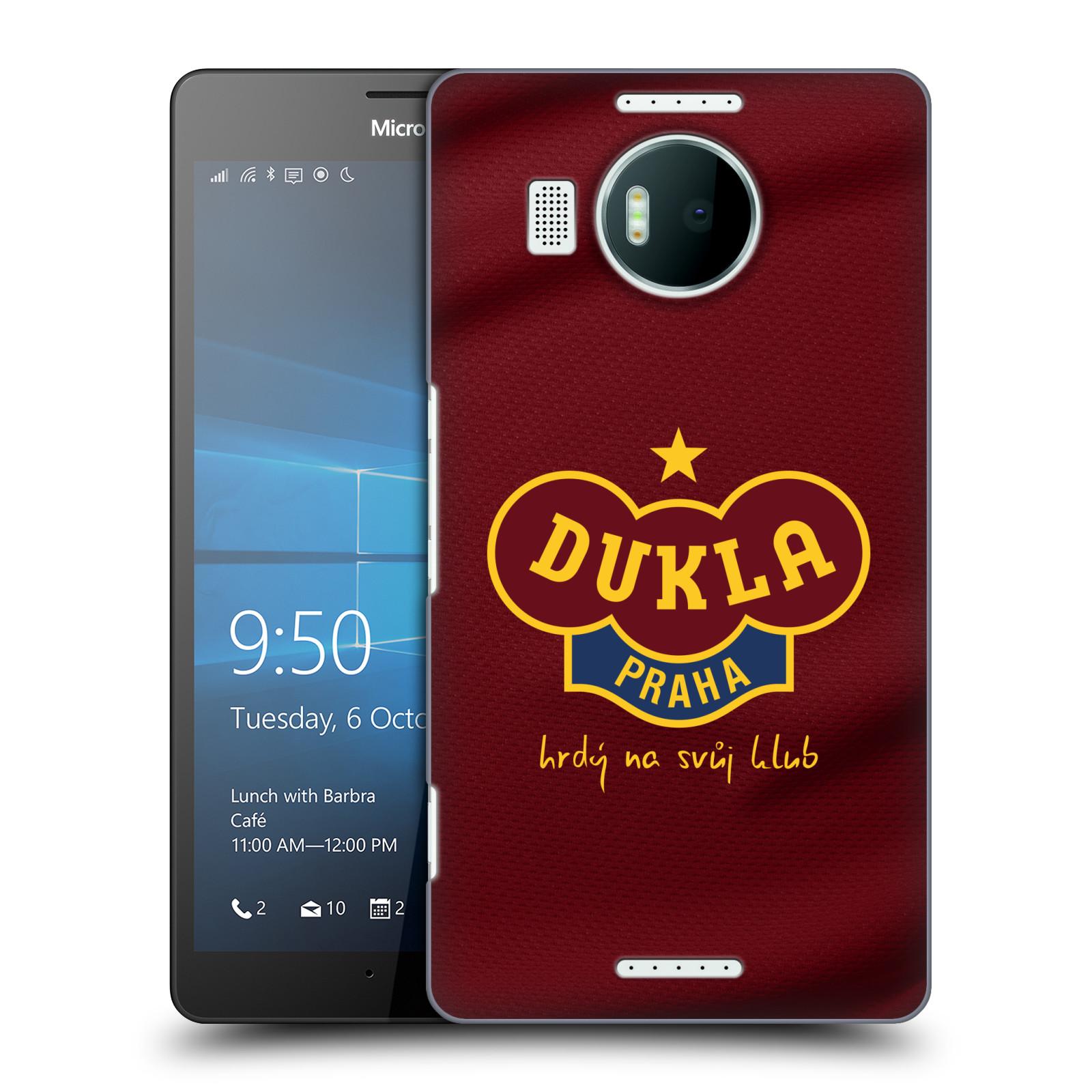 Plastové pouzdro na mobil Microsoft Lumia 950 XL - FK Dukla Praha - Vínově červený dres
