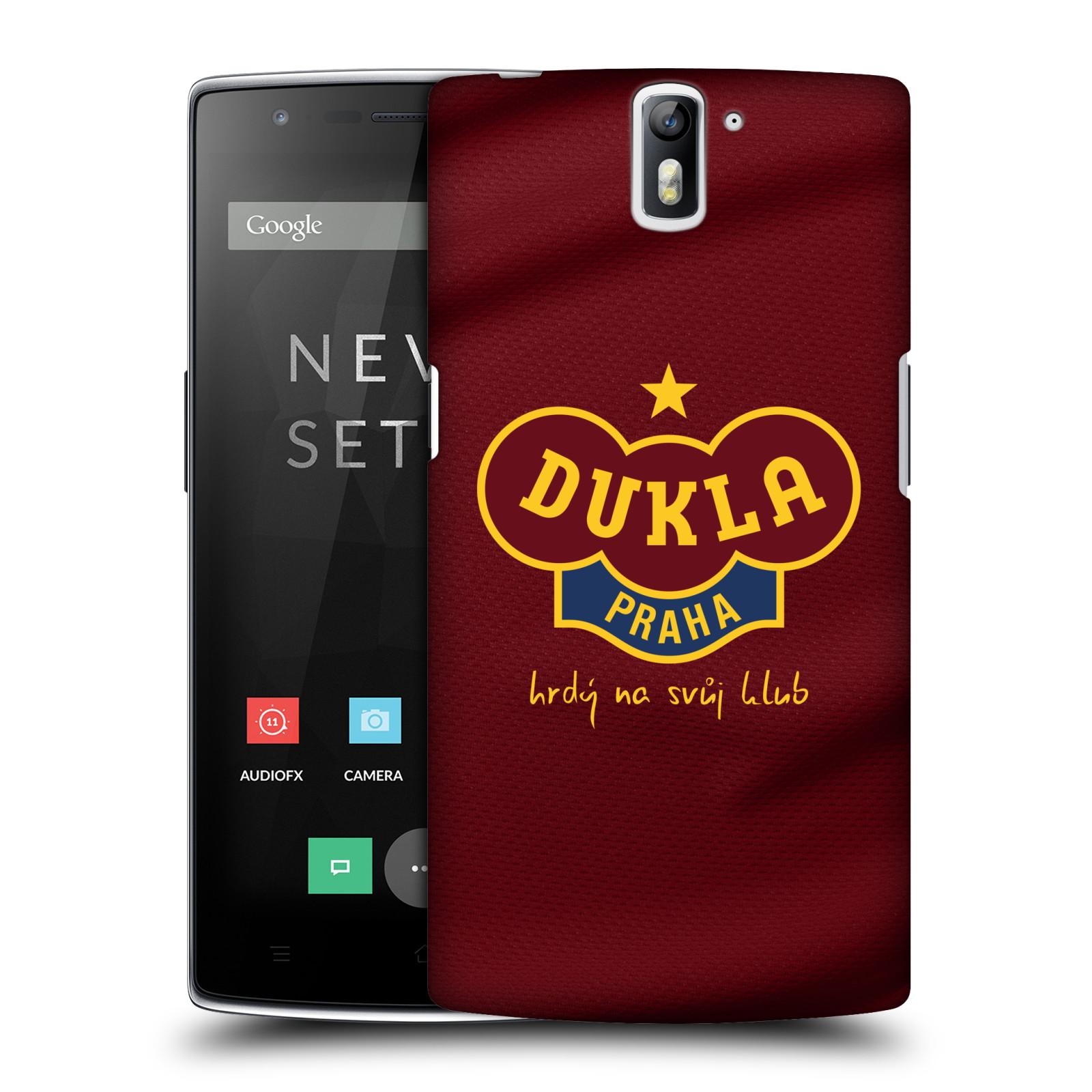 Plastové pouzdro na mobil OnePlus One - FK Dukla Praha - Vínově červený dres