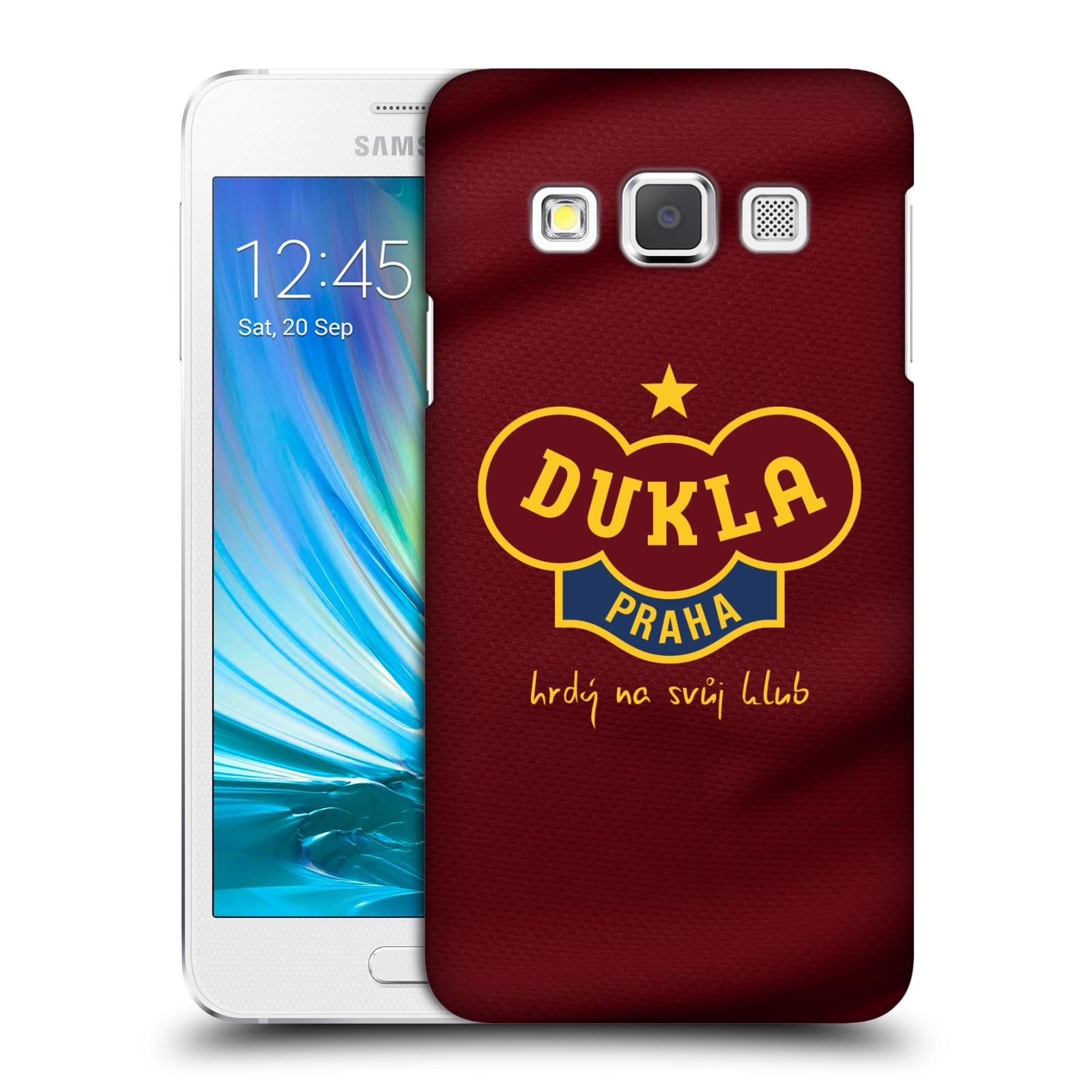 Plastové pouzdro na mobil Samsung Galaxy A3 - FK Dukla Praha - Vínově červený dres