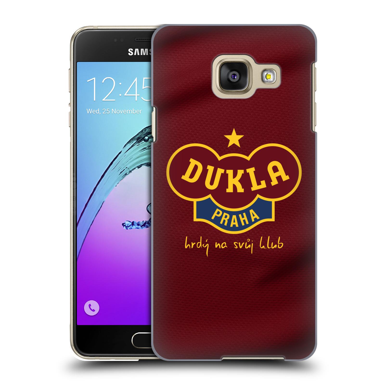 Plastové pouzdro na mobil Samsung Galaxy A3 (2016) - FK Dukla Praha - Vínově červený dres