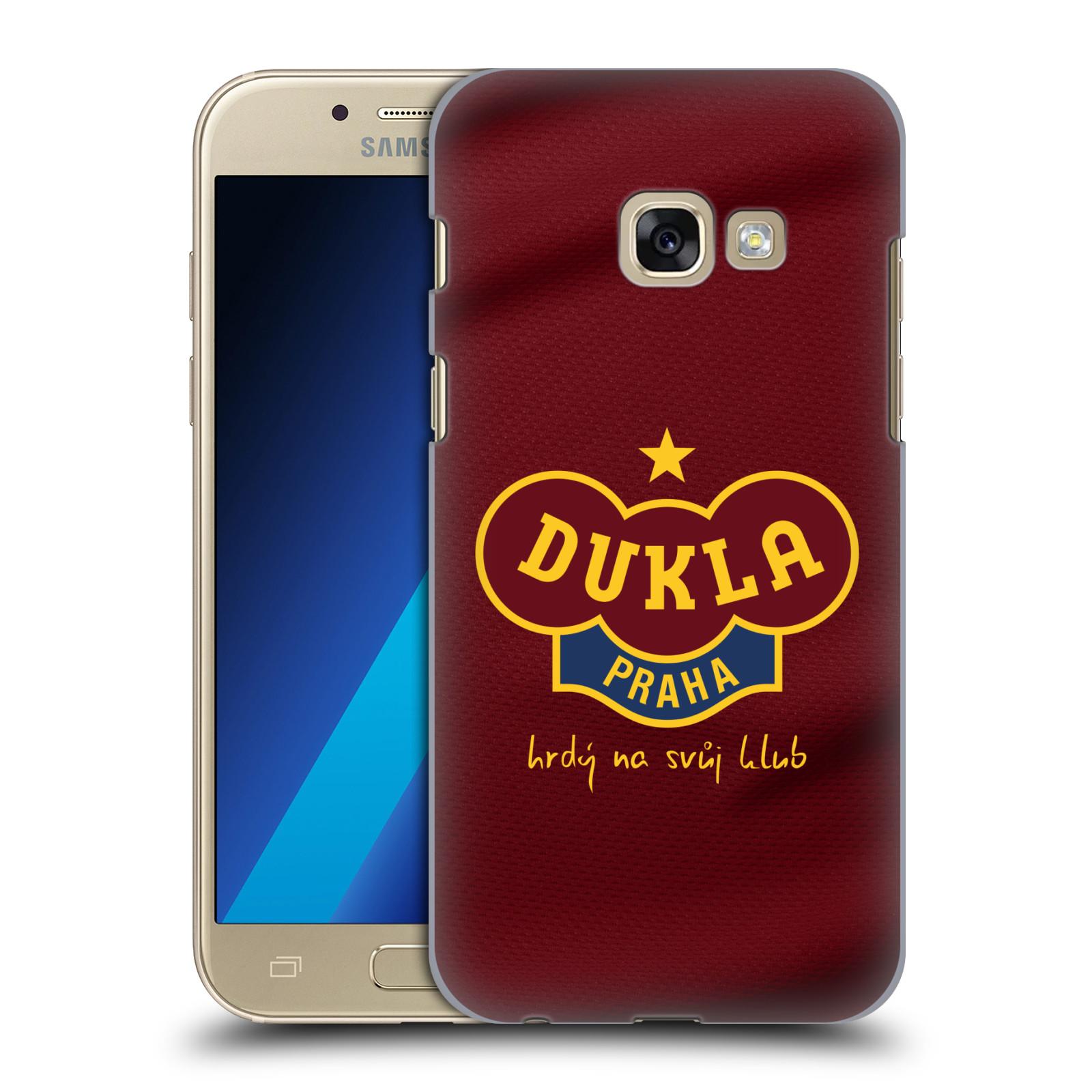 Plastové pouzdro na mobil Samsung Galaxy A3 (2017) - FK Dukla Praha - Vínově červený dres