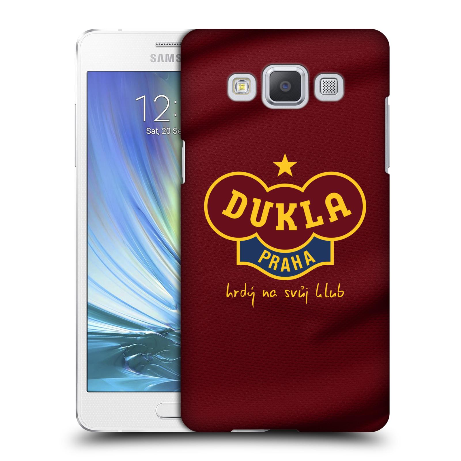 Plastové pouzdro na mobil Samsung Galaxy A5 - FK Dukla Praha - Vínově červený dres