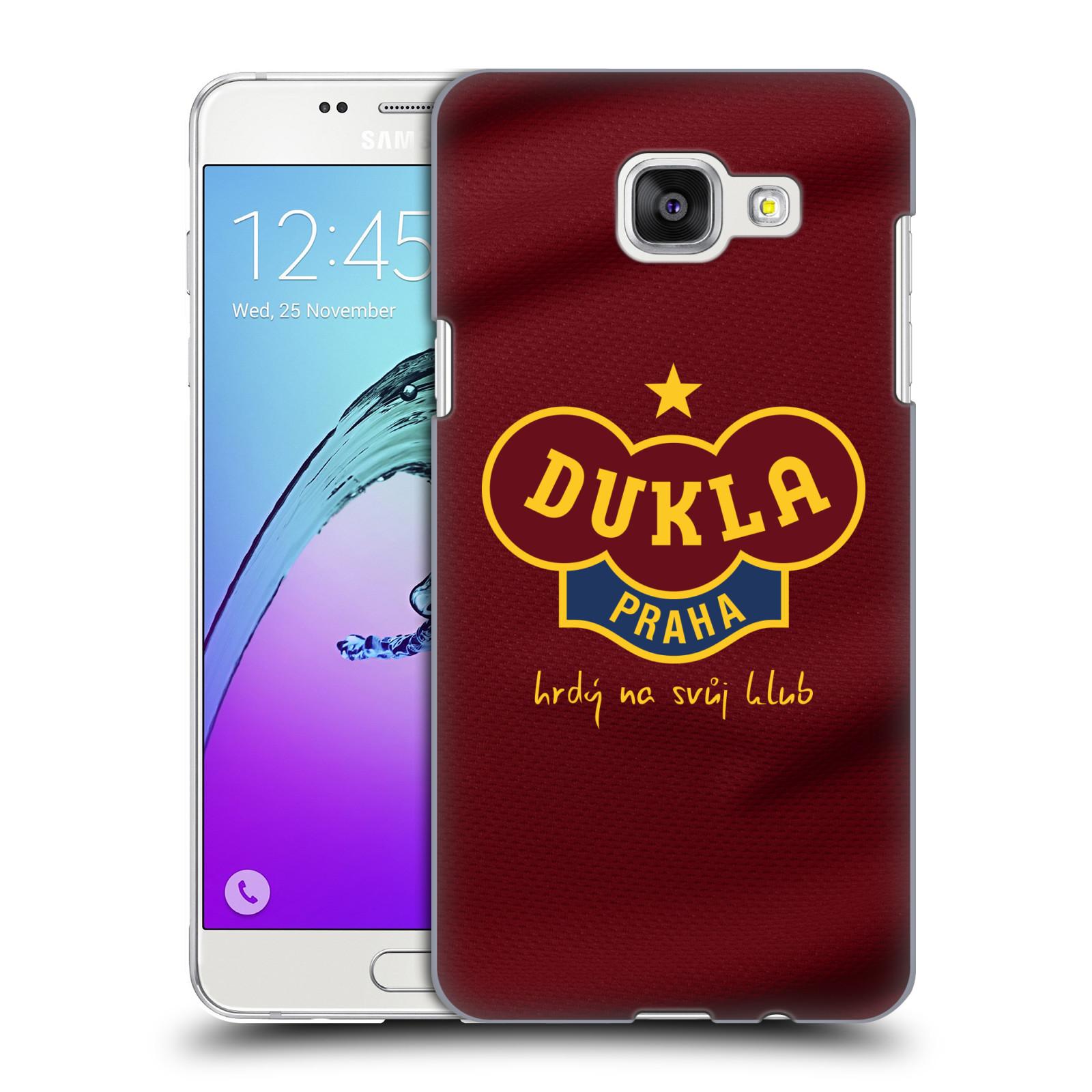 Plastové pouzdro na mobil Samsung Galaxy A5 (2016) - FK Dukla Praha - Vínově červený dres