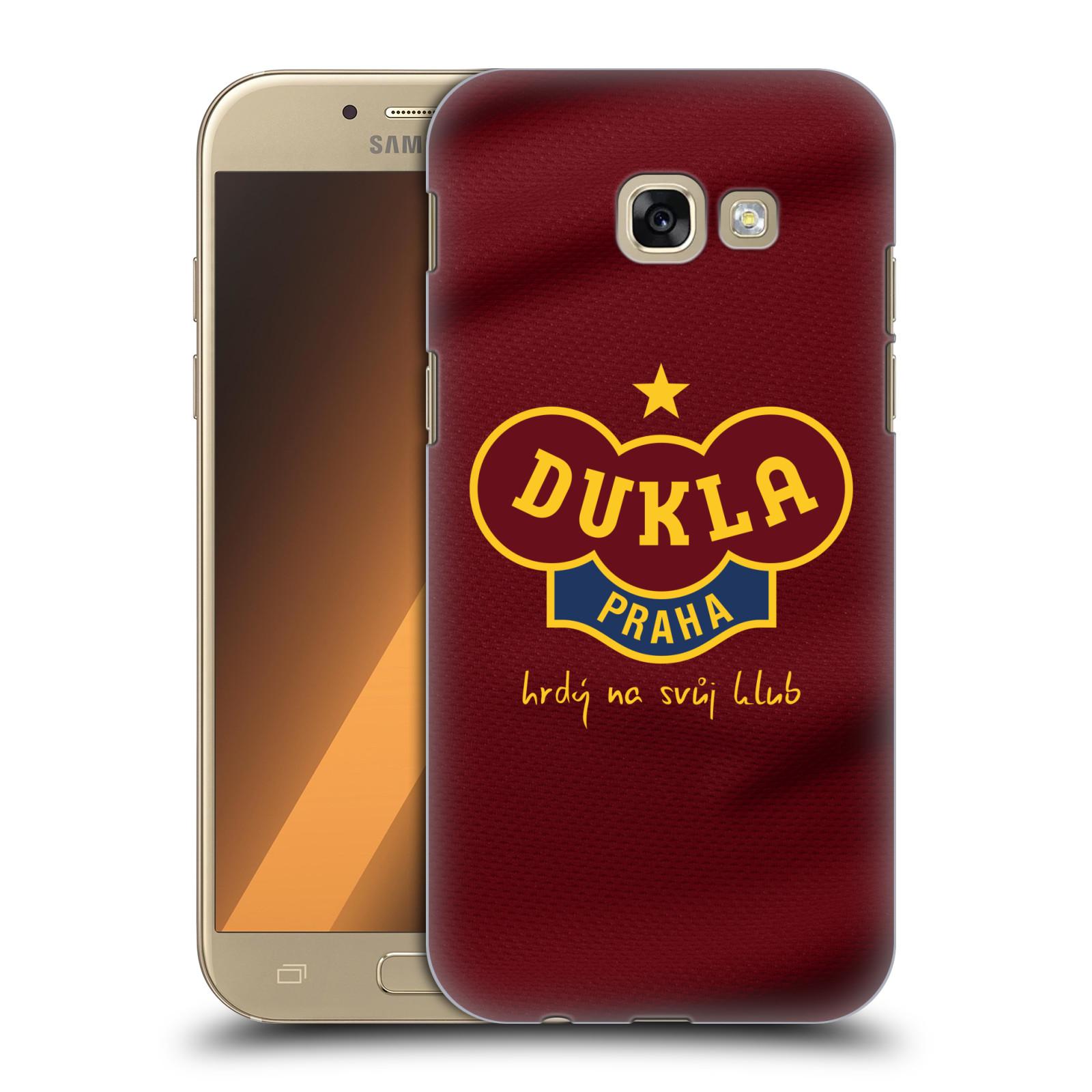 Plastové pouzdro na mobil Samsung Galaxy A5 (2017) - FK Dukla Praha - Vínově červený dres