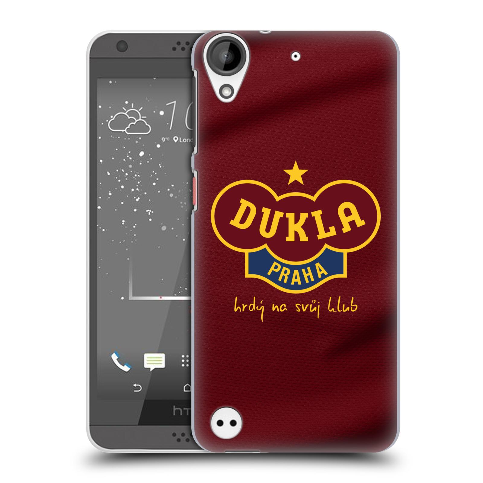 Plastové pouzdro na mobil HTC Desire 530 - FK Dukla Praha - Vínově červený dres