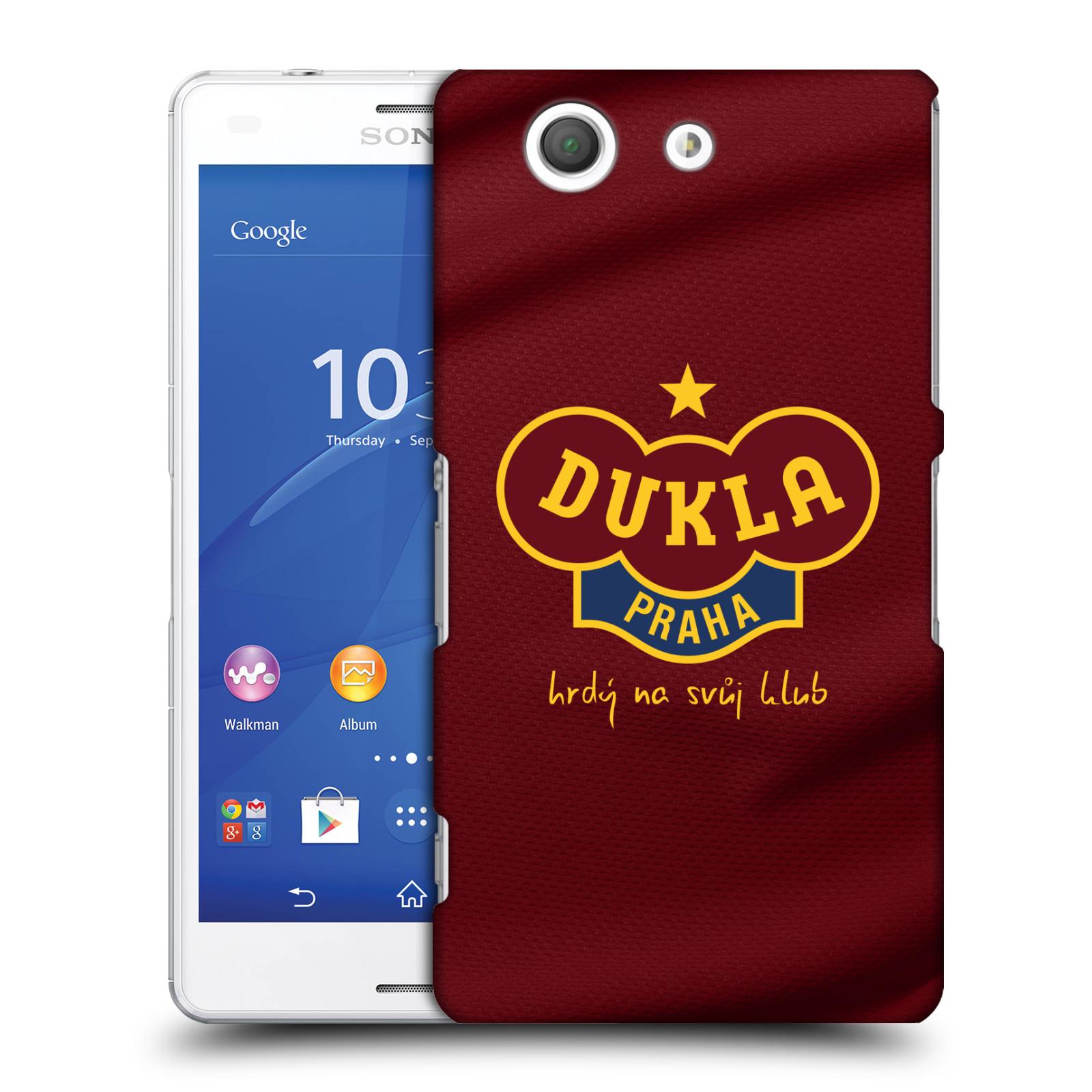 Plastové pouzdro na mobil Sony Xperia Z3 Compact D5803 - FK Dukla Praha - Vínově červený dres