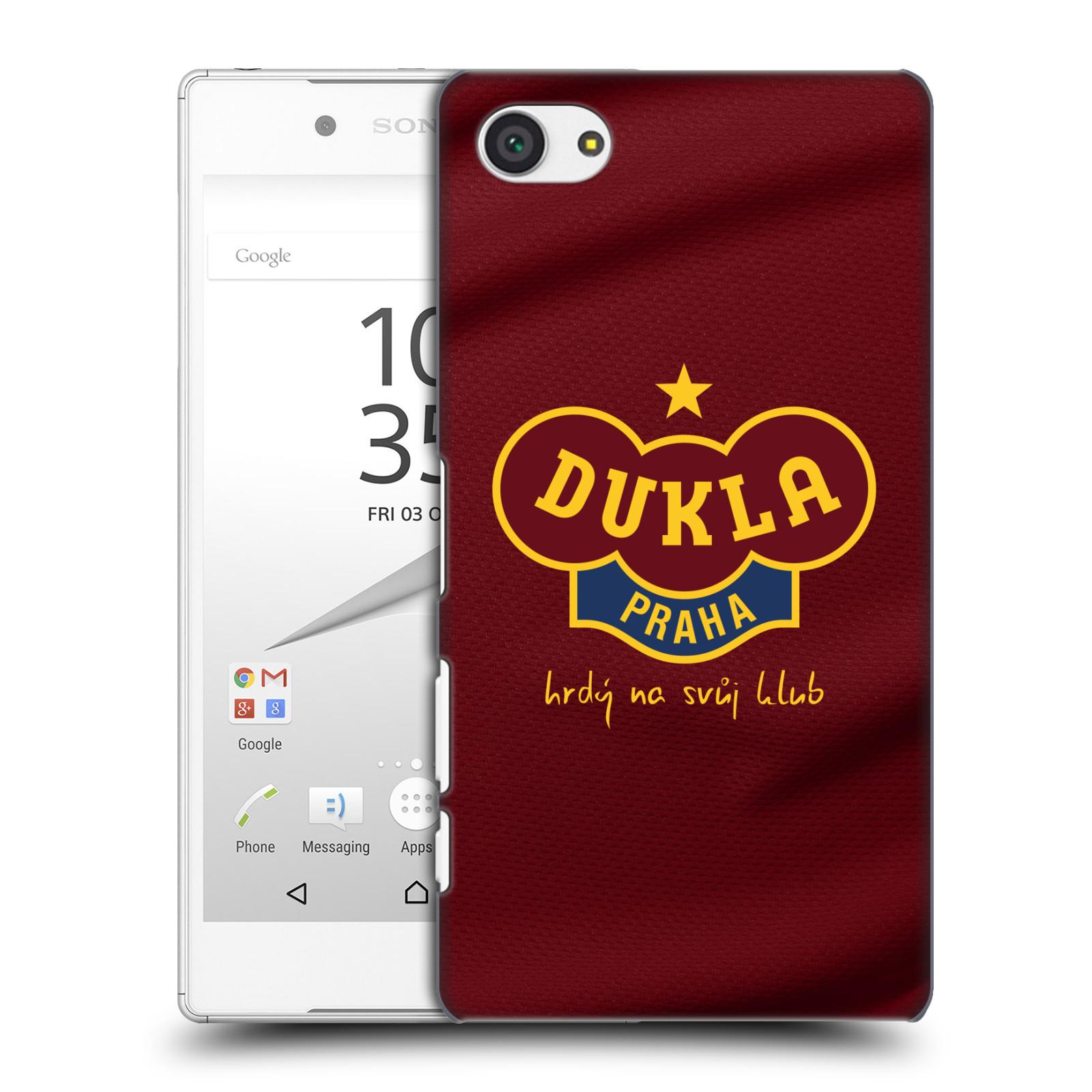 Plastové pouzdro na mobil Sony Xperia Z5 Compact - FK Dukla Praha - Vínově červený dres