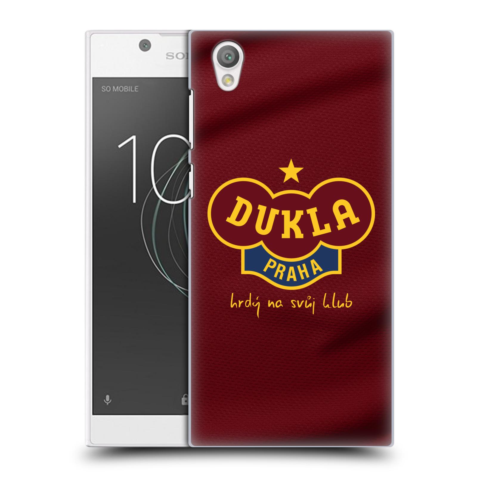Plastové pouzdro na mobil Sony Xperia L1 - FK Dukla Praha - Vínově červený dres