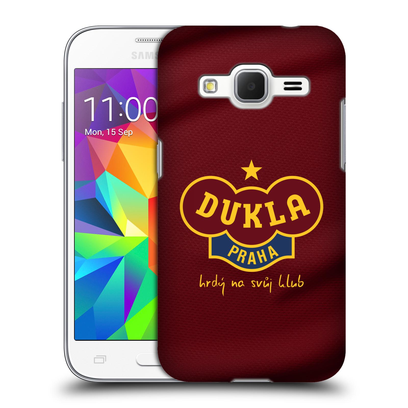 Plastové pouzdro na mobil Samsung Galaxy Core Prime VE - FK Dukla Praha - Vínově červený dres