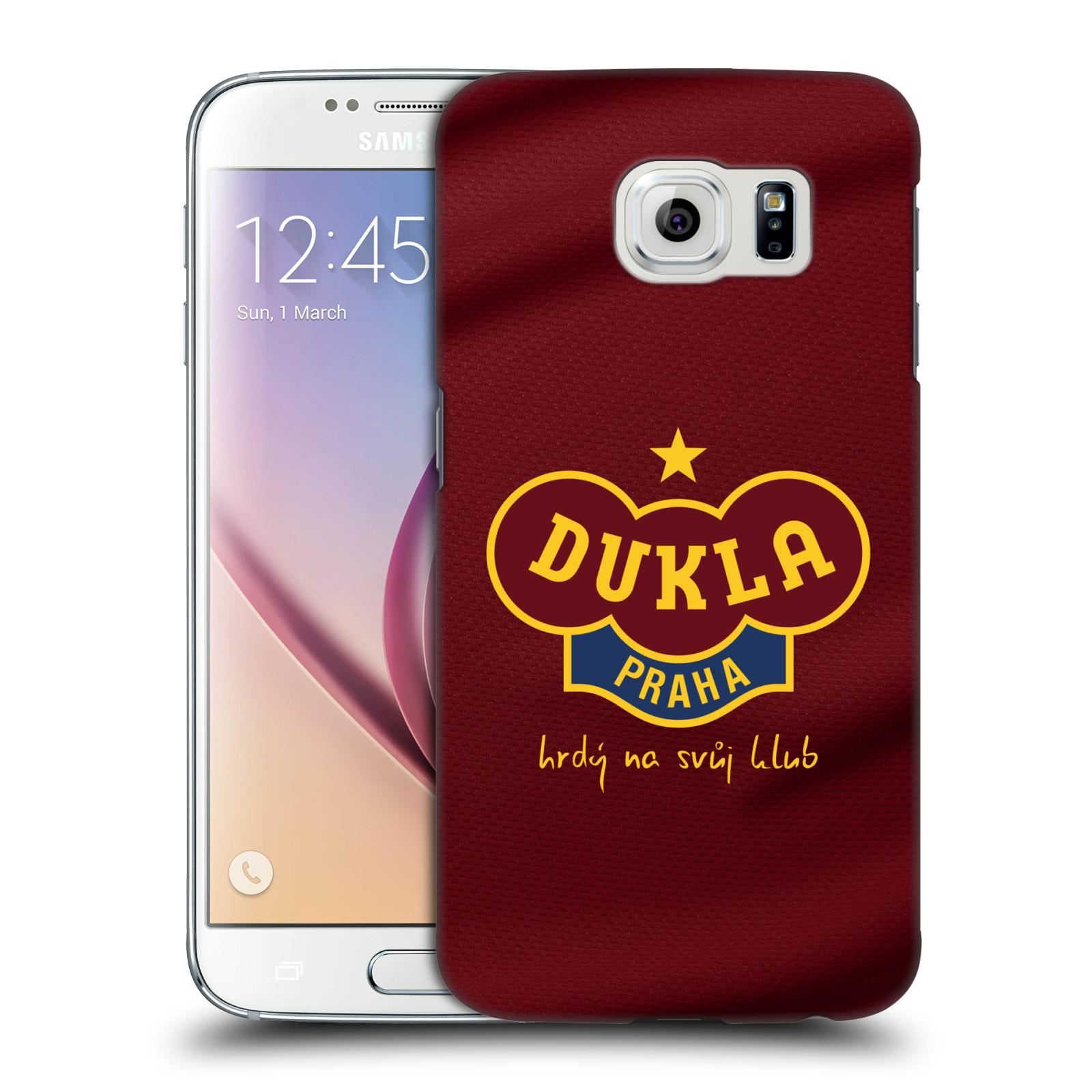 Plastové pouzdro na mobil Samsung Galaxy S6 - FK Dukla Praha - Vínově červený dres