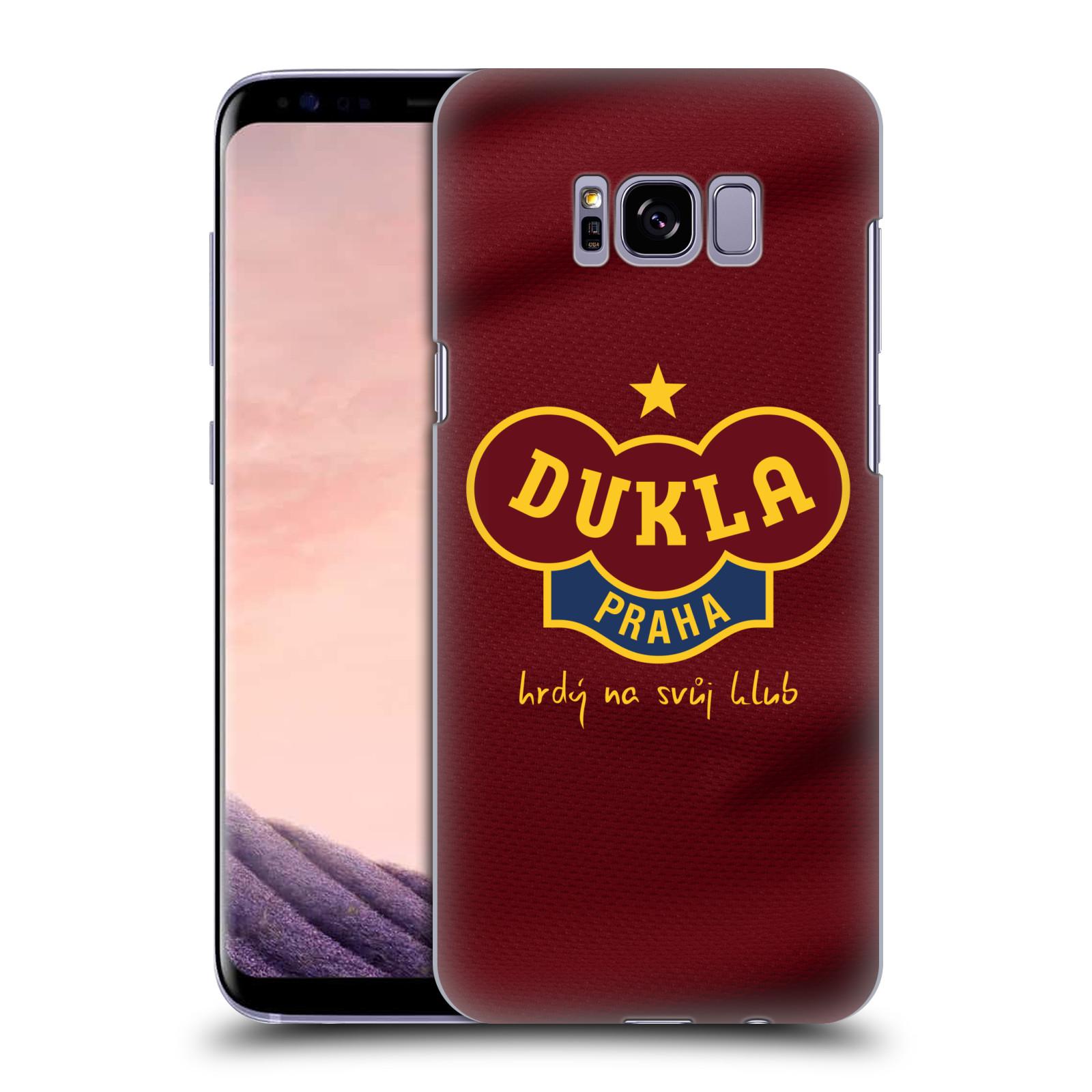 Plastové pouzdro na mobil Samsung Galaxy S8+ (Plus) - FK Dukla Praha - Vínově červený dres