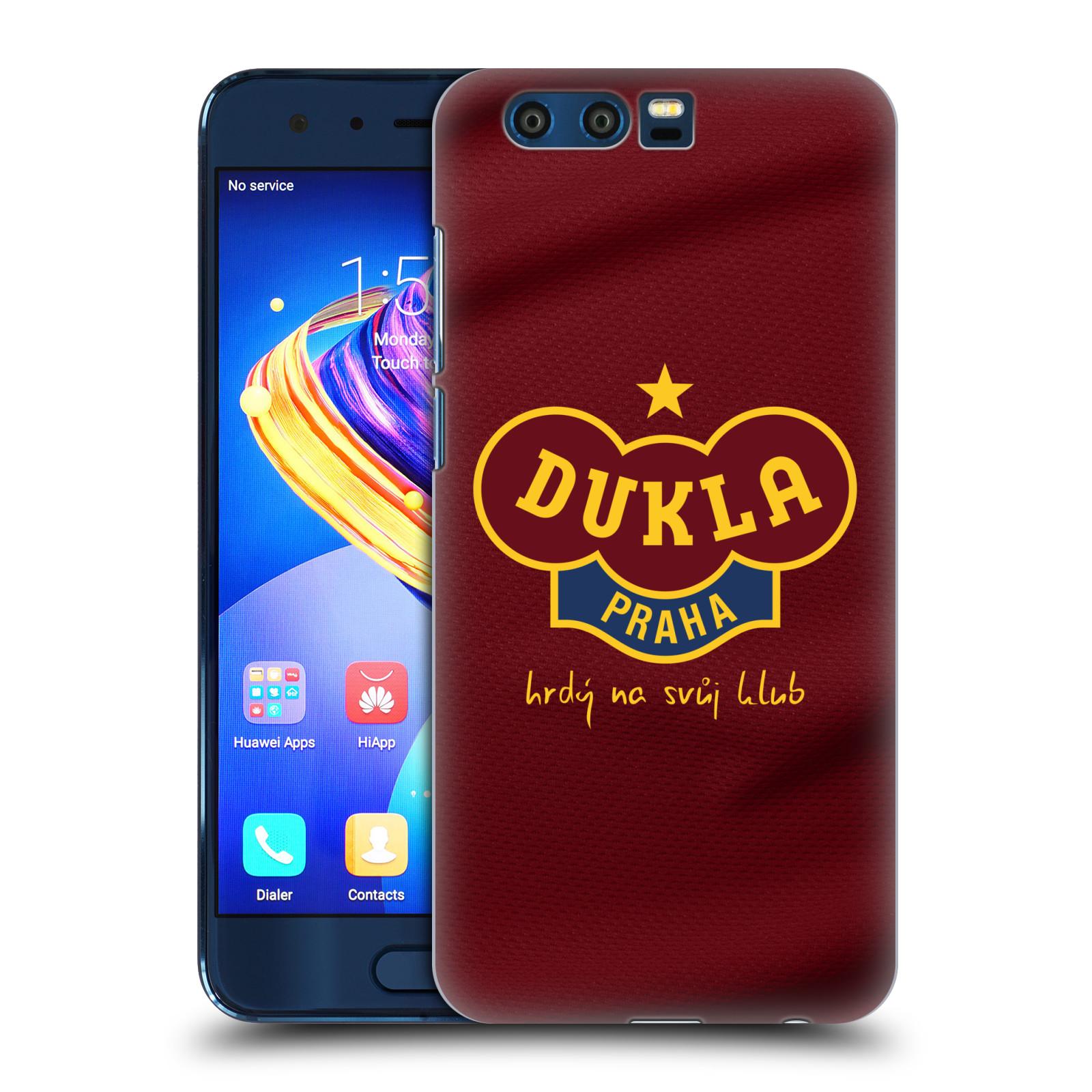 Plastové pouzdro na mobil Honor 9 - FK Dukla Praha - Vínově červený dres (Plastové pouzdro na mobil Honor 9 - FK Dukla Praha - Vínově červený dres)