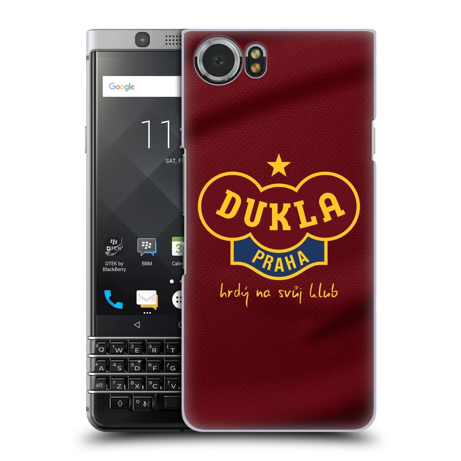 Plastové pouzdro na mobil BlackBerry KEYone - FK Dukla Praha - Vínově červený dres (Plastové pouzdro na mobil BlackBerry KEYone - FK Dukla Praha - Vínově červený dres)