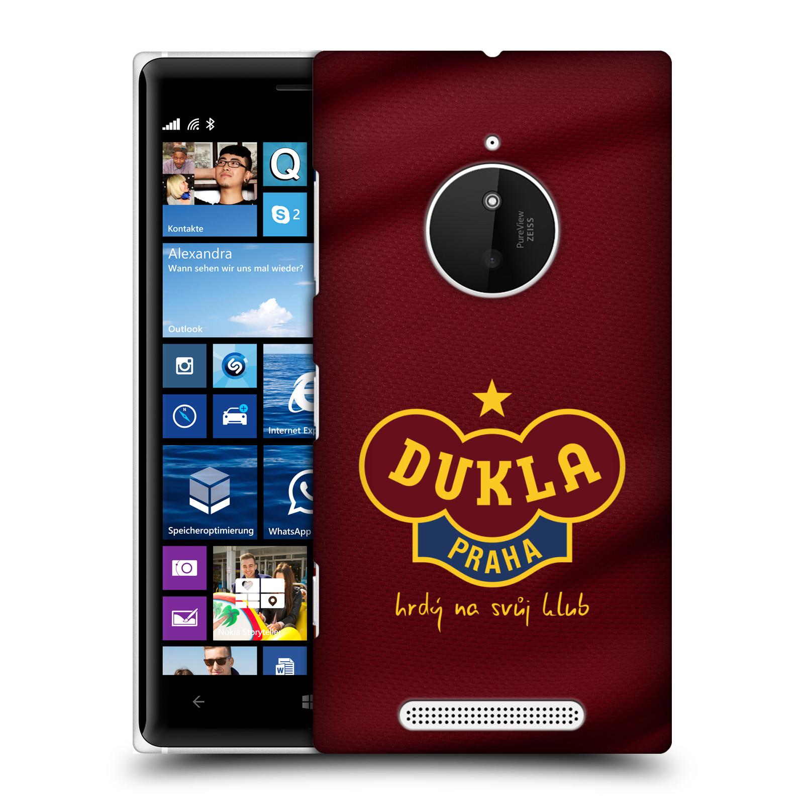 Plastové pouzdro na mobil Nokia Lumia 830 - FK Dukla Praha - Vínově červený dres