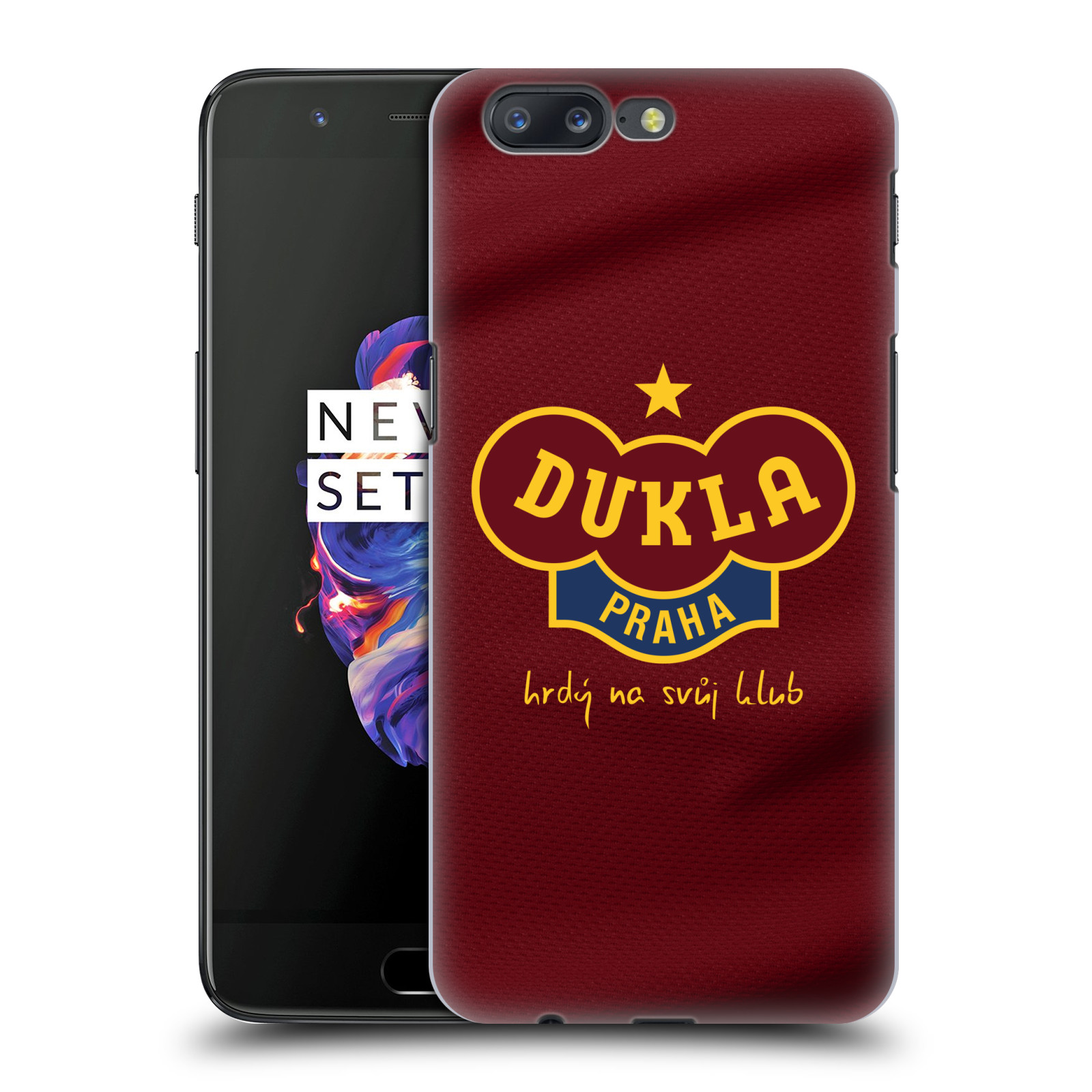 Plastové pouzdro na mobil OnePlus 5 - FK Dukla Praha - Vínově červený dres