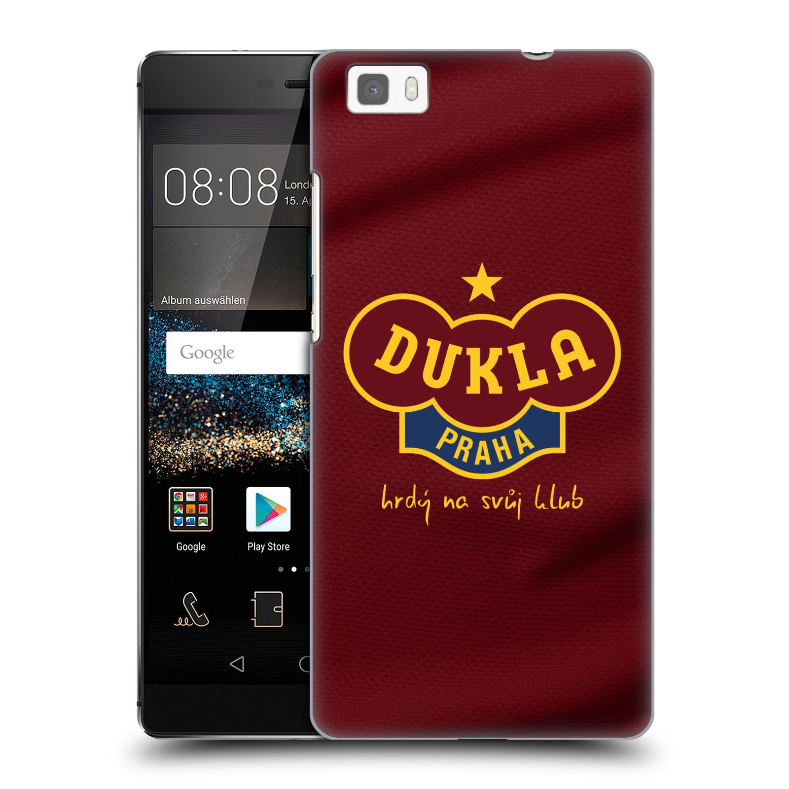 Plastové pouzdro na mobil Huawei P8 Lite - FK Dukla Praha - Vínově červený dres