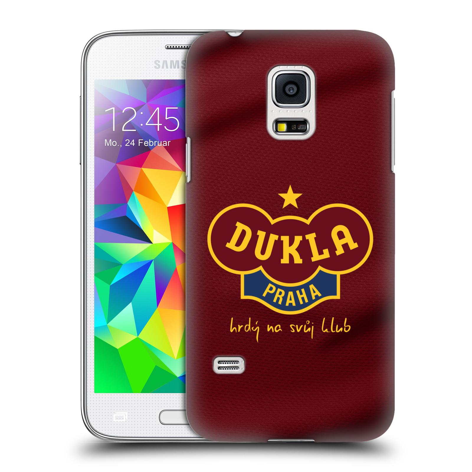 Plastové pouzdro na mobil Samsung Galaxy S5 Mini - FK Dukla Praha - Vínově červený dres
