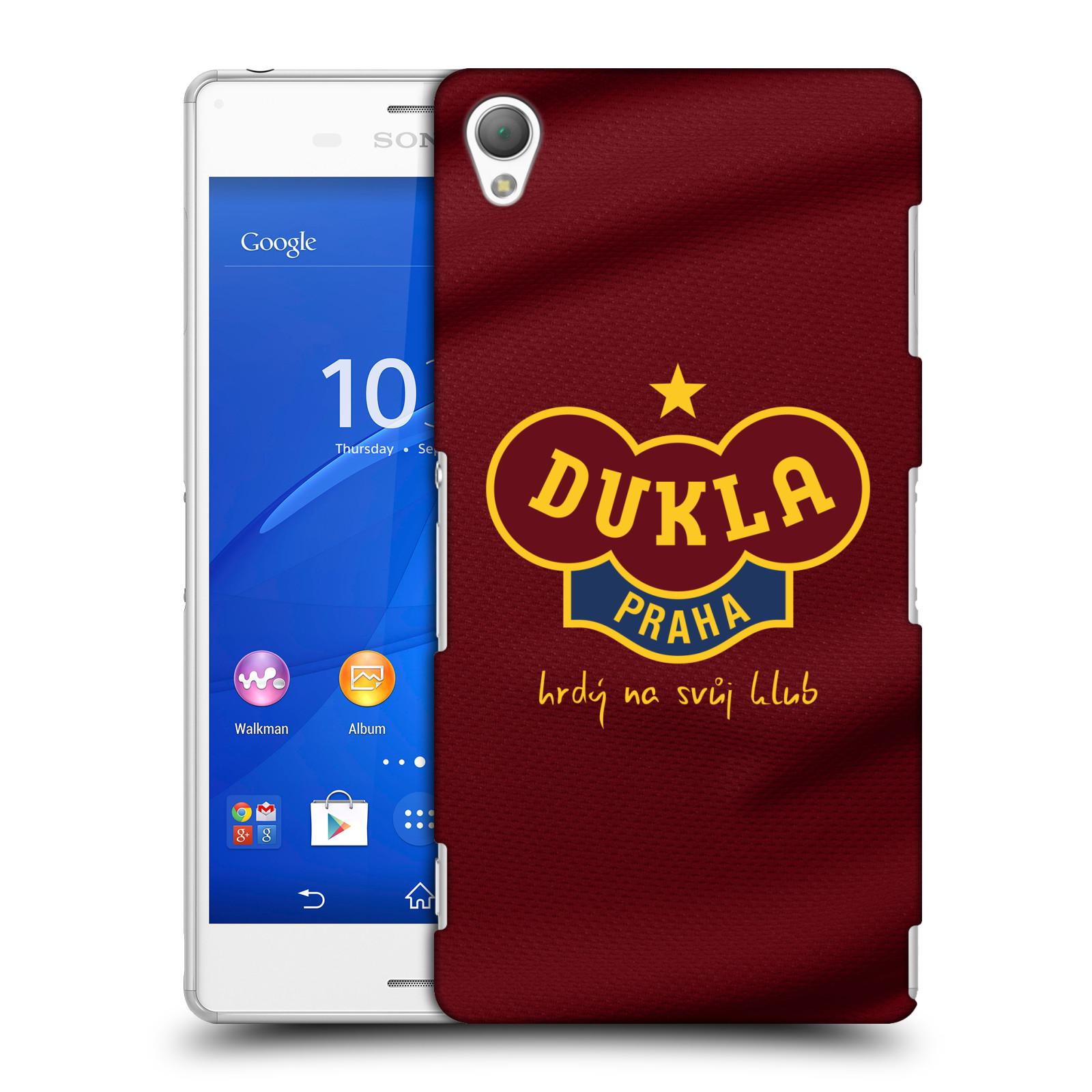 Plastové pouzdro na mobil Sony Xperia Z3 D6603 - FK Dukla Praha - Vínově červený dres