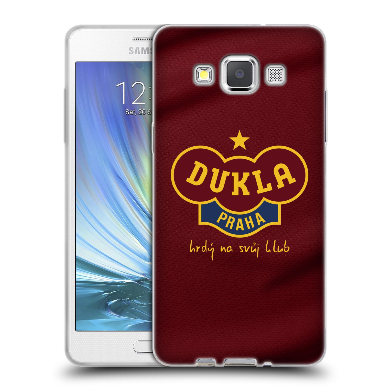 Silikonové pouzdro na mobil Samsung Galaxy A5 - FK Dukla Praha - Vínově červený dres