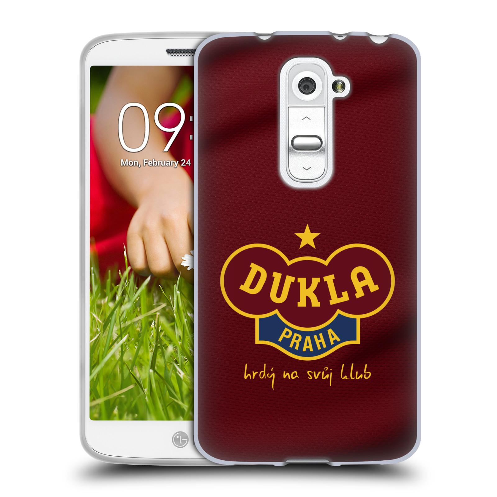 Silikonové pouzdro na mobil LG G2 Mini - FK Dukla Praha - Vínově červený dres (Silikonový kryt či obal na mobilní telefon s oficiálním motivem FK Dukla Praha - Vínově červený dres pro LG G2 Mini D620)