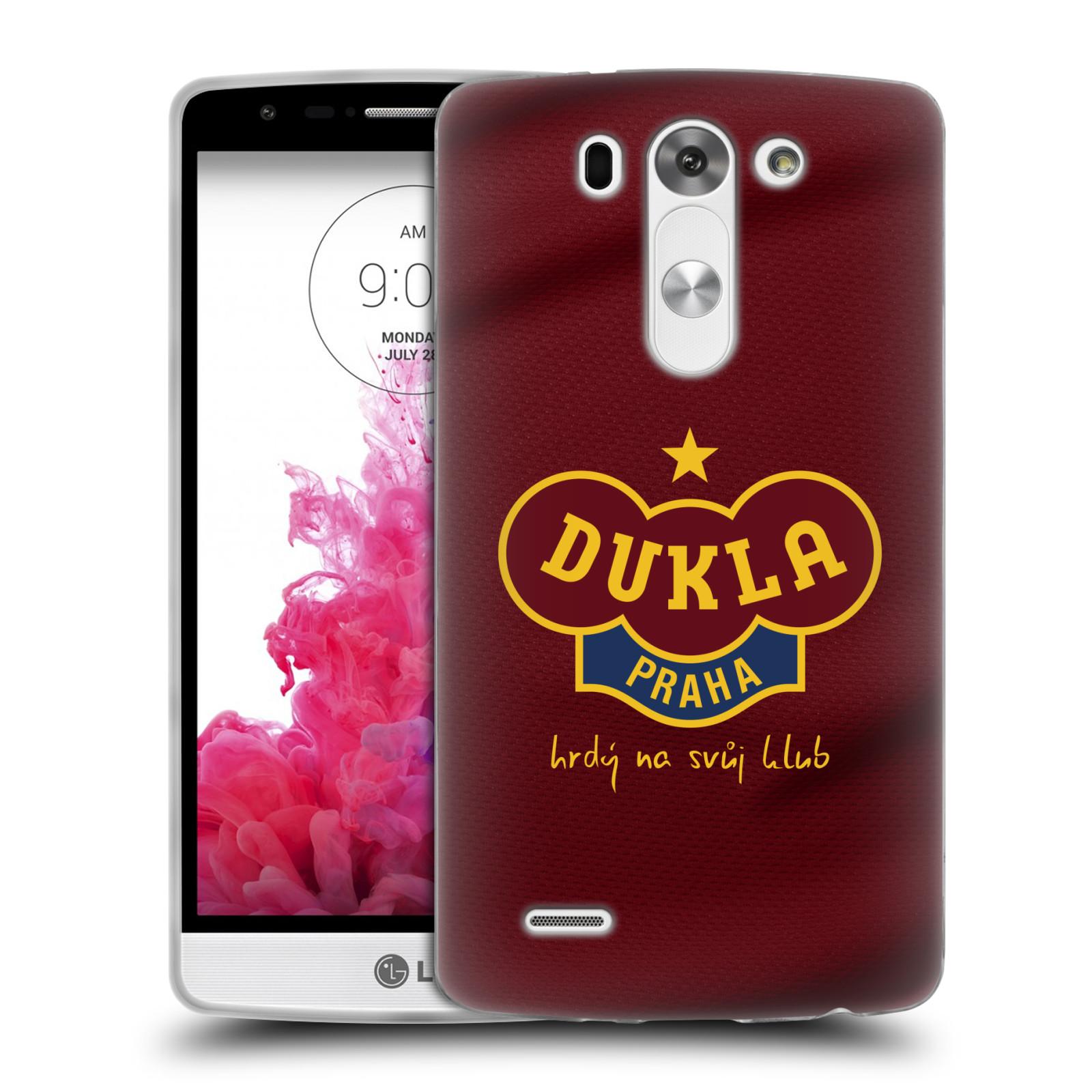 Silikonové pouzdro na mobil LG G3s - FK Dukla Praha - Vínově červený dres (Silikonový kryt či obal na mobilní telefon s oficiálním motivem FK Dukla Praha - Vínově červený dres pro LG G3s)