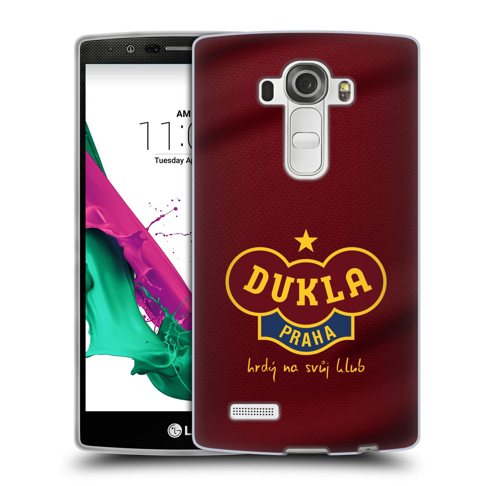 Silikonové pouzdro na mobil LG G4 - FK Dukla Praha - Vínově červený dres (Silikonový kryt či obal na mobilní telefon s oficiálním motivem FK Dukla Praha - Vínově červený dres pro LG G4 H815)