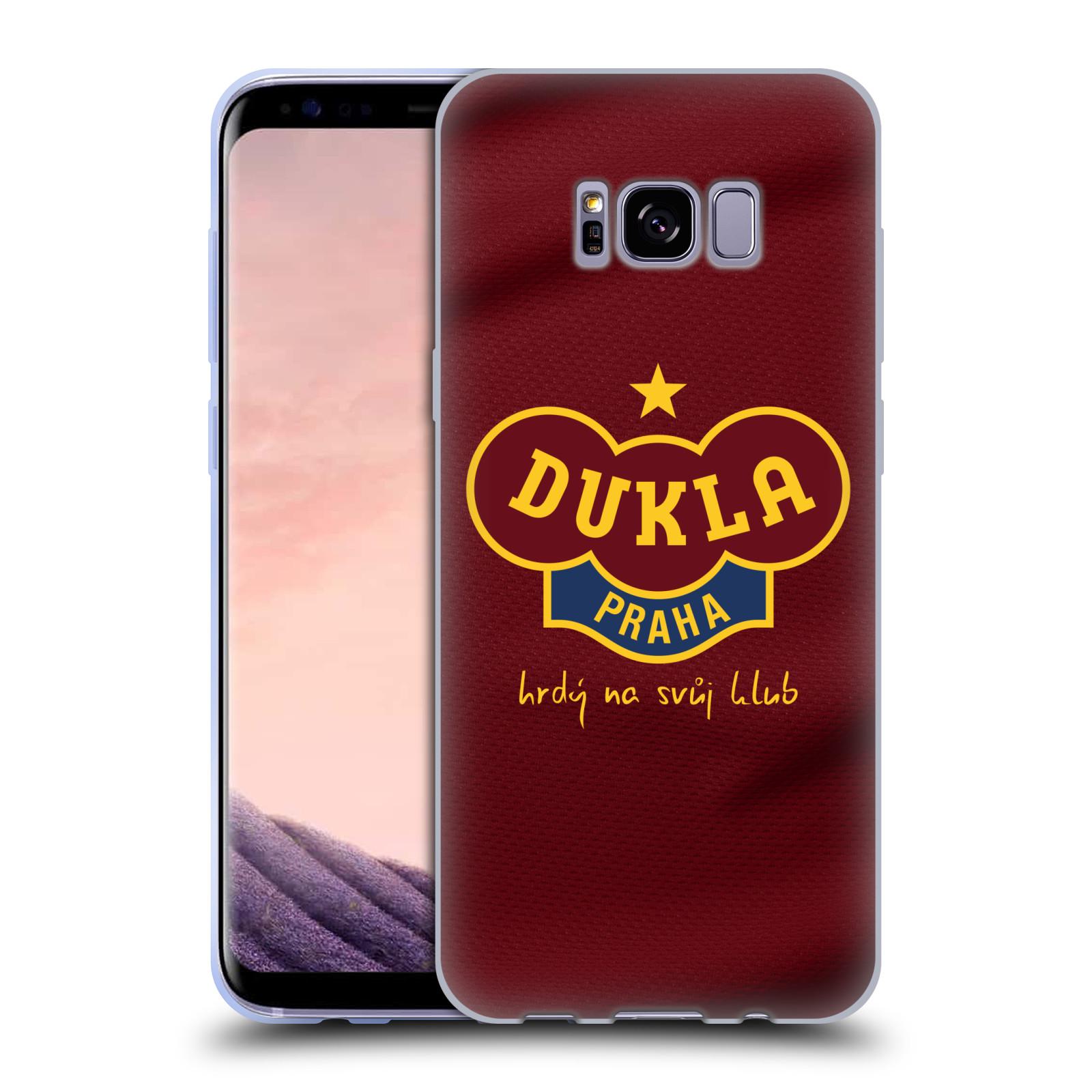 Silikonové pouzdro na mobil Samsung Galaxy S8+ (Plus) - FK Dukla Praha - Vínově červený dres