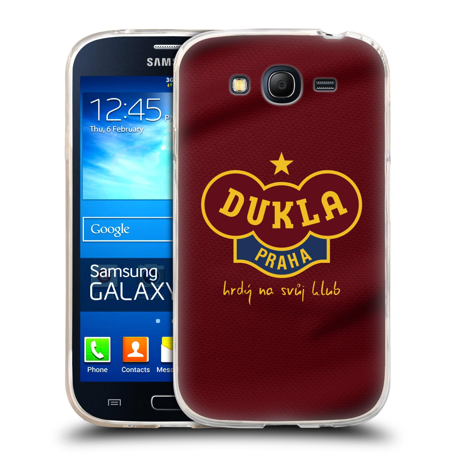 Silikonové pouzdro na mobil Samsung Galaxy Grand Neo Plus - FK Dukla Praha - Vínově červený dres