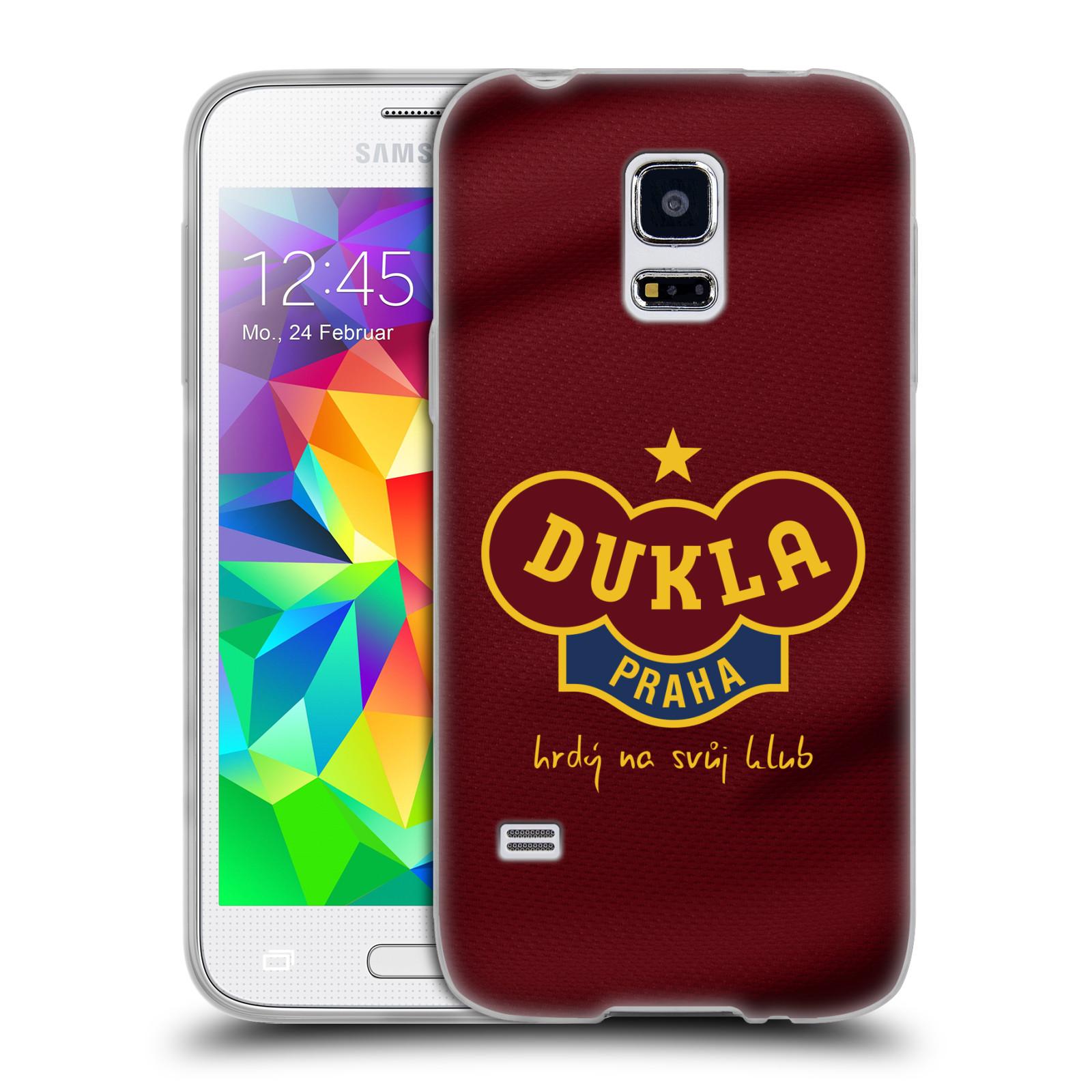 Silikonové pouzdro na mobil Samsung Galaxy S5 Mini - FK Dukla Praha - Vínově červený dres