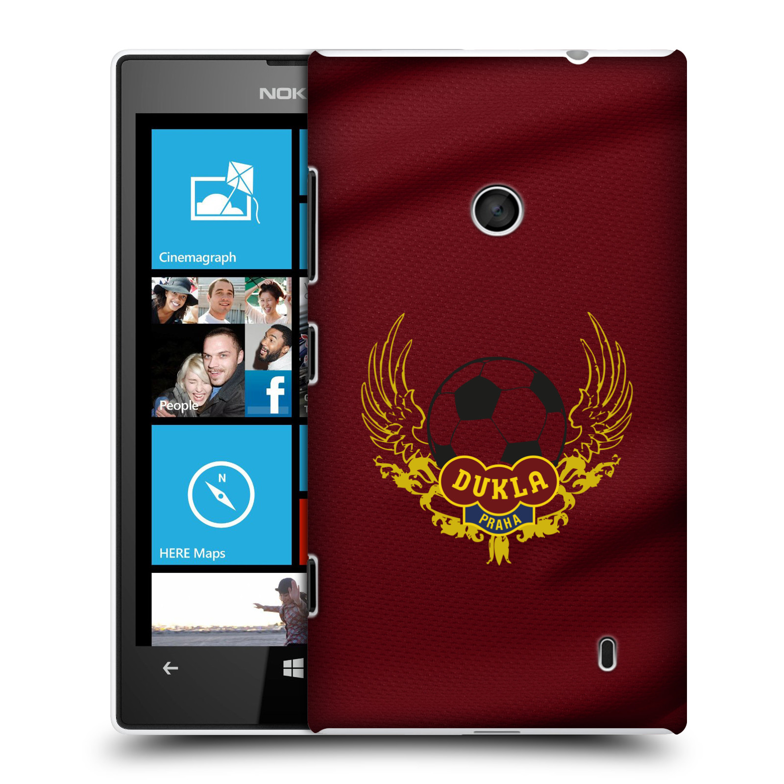 Plastové pouzdro na mobil Nokia Lumia 520 - FK Dukla Praha - Okřídlené logo
