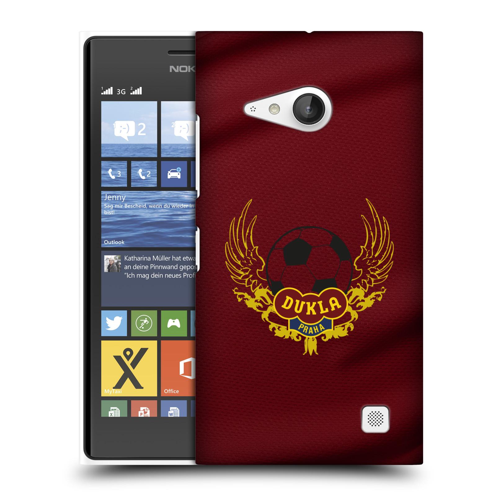 Plastové pouzdro na mobil Nokia Lumia 730 Dual SIM - FK Dukla Praha - Okřídlené logo (Plastový kryt či obal na mobilní telefon s oficiálním motivem FK Dukla Praha - Okřídlené logo pro Nokia Lumia 730 Dual SIM)