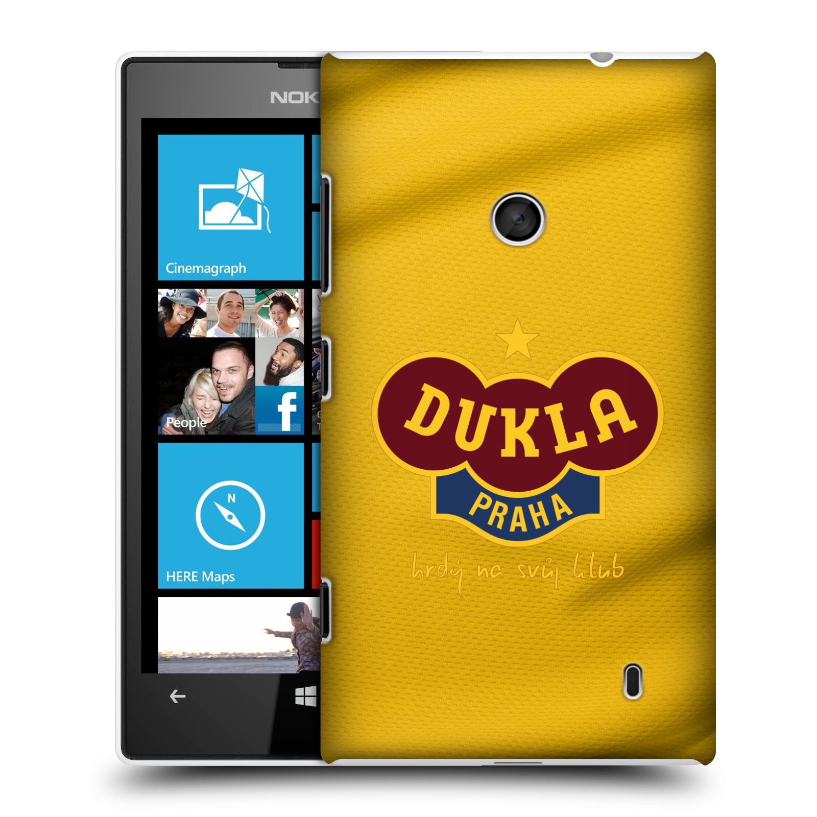 Plastové pouzdro na mobil Nokia Lumia 520 - FK Dukla Praha - Žlutý dres