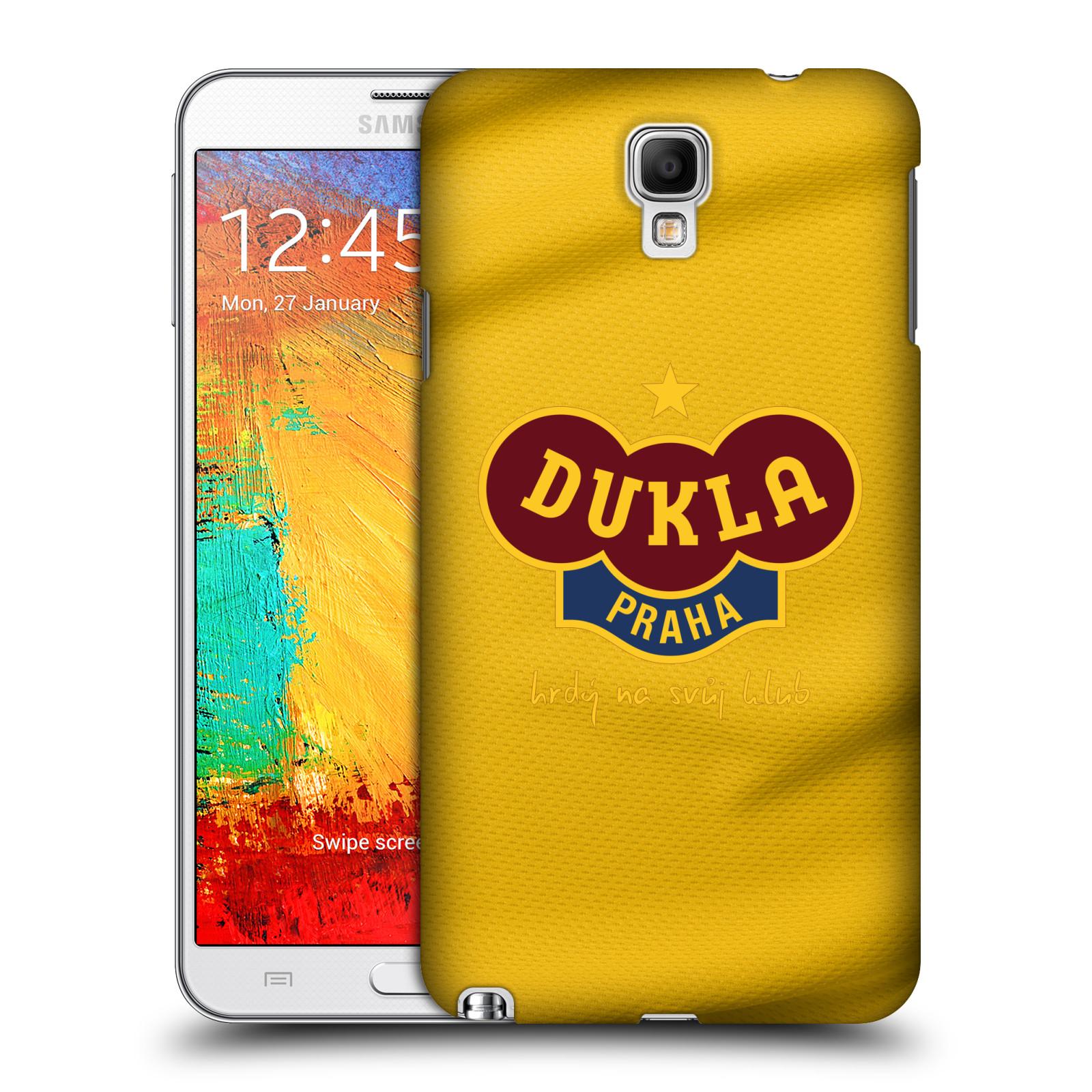 Plastové pouzdro na mobil Samsung Galaxy Note 3 Neo - FK Dukla Praha - Žlutý dres