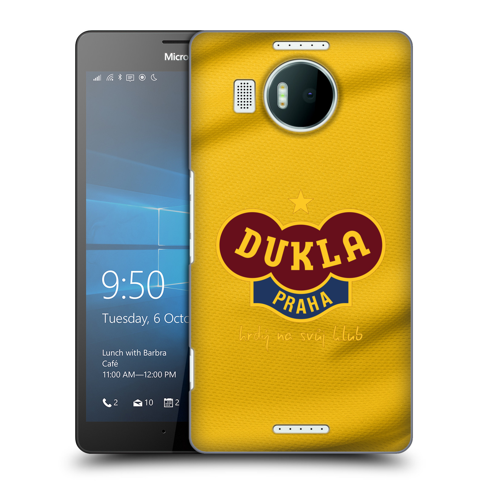 Plastové pouzdro na mobil Microsoft Lumia 950 XL - FK Dukla Praha - Žlutý dres