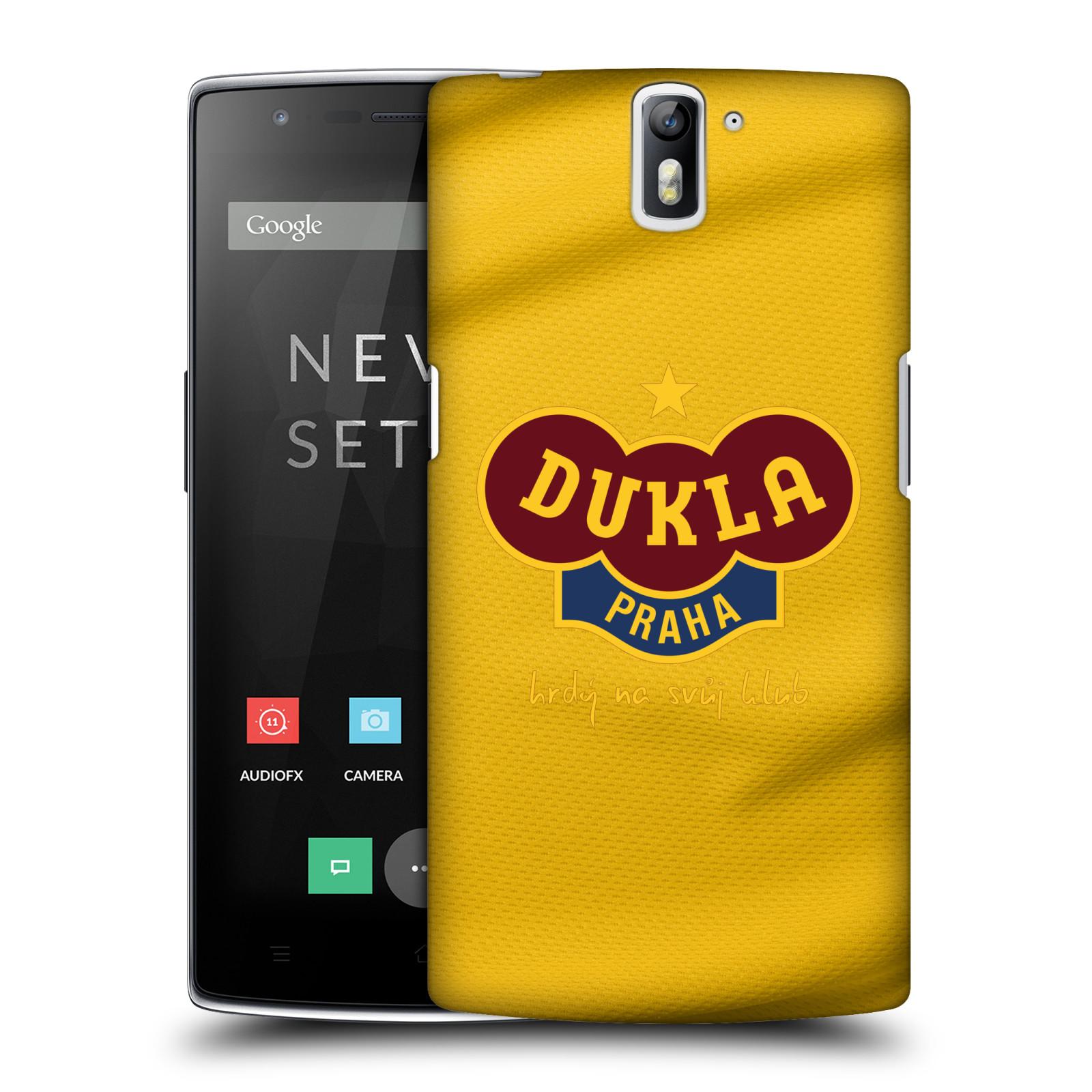 Plastové pouzdro na mobil OnePlus One - FK Dukla Praha - Žlutý dres