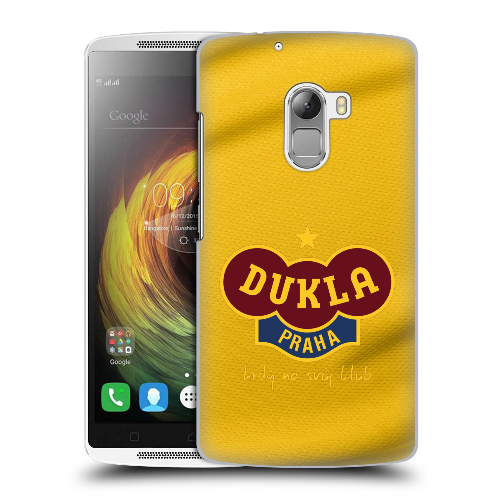Plastové pouzdro na mobil Lenovo A7010 - FK Dukla Praha - Žlutý dres