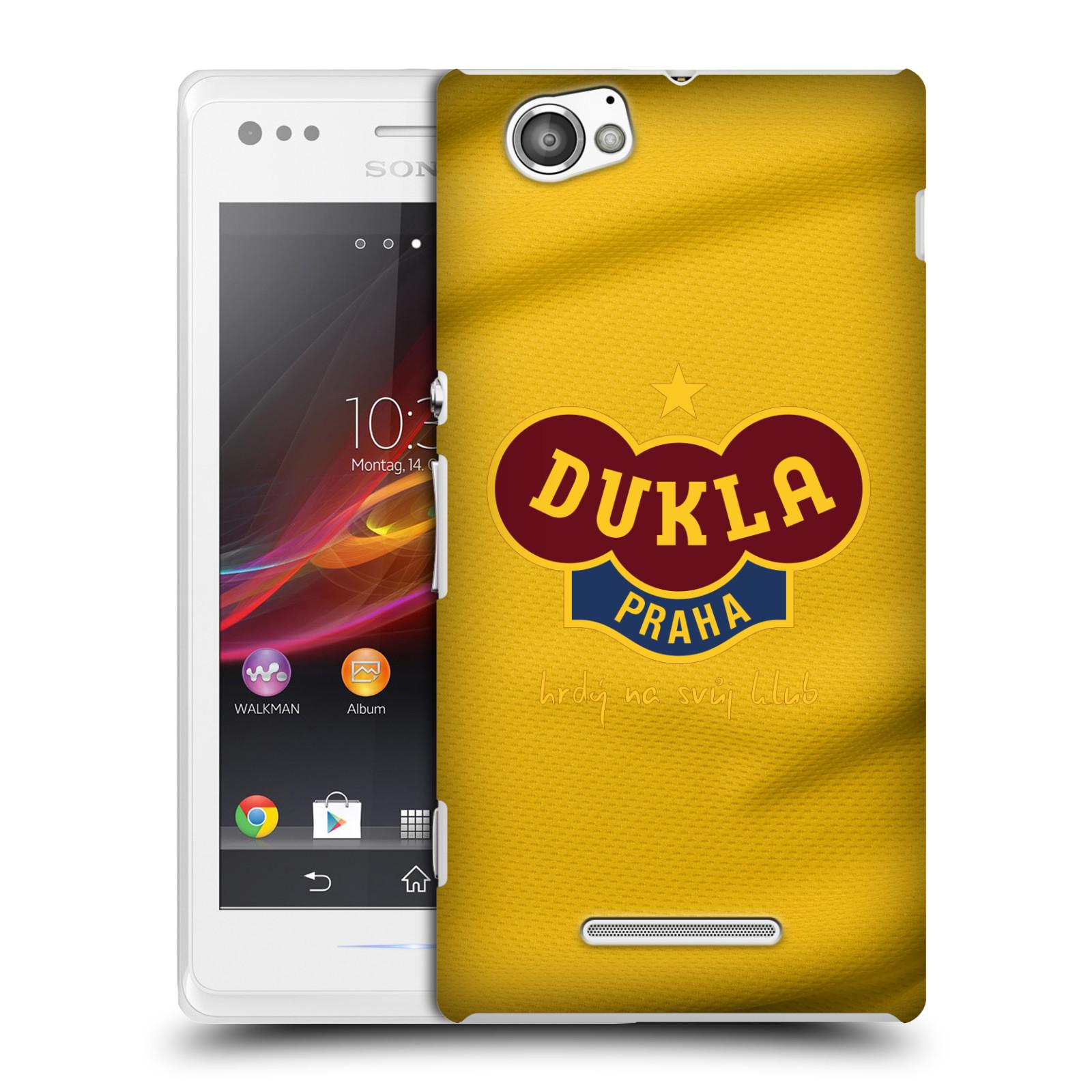 Plastové pouzdro na mobil Sony Xperia M C1905 - FK Dukla Praha - Žlutý dres