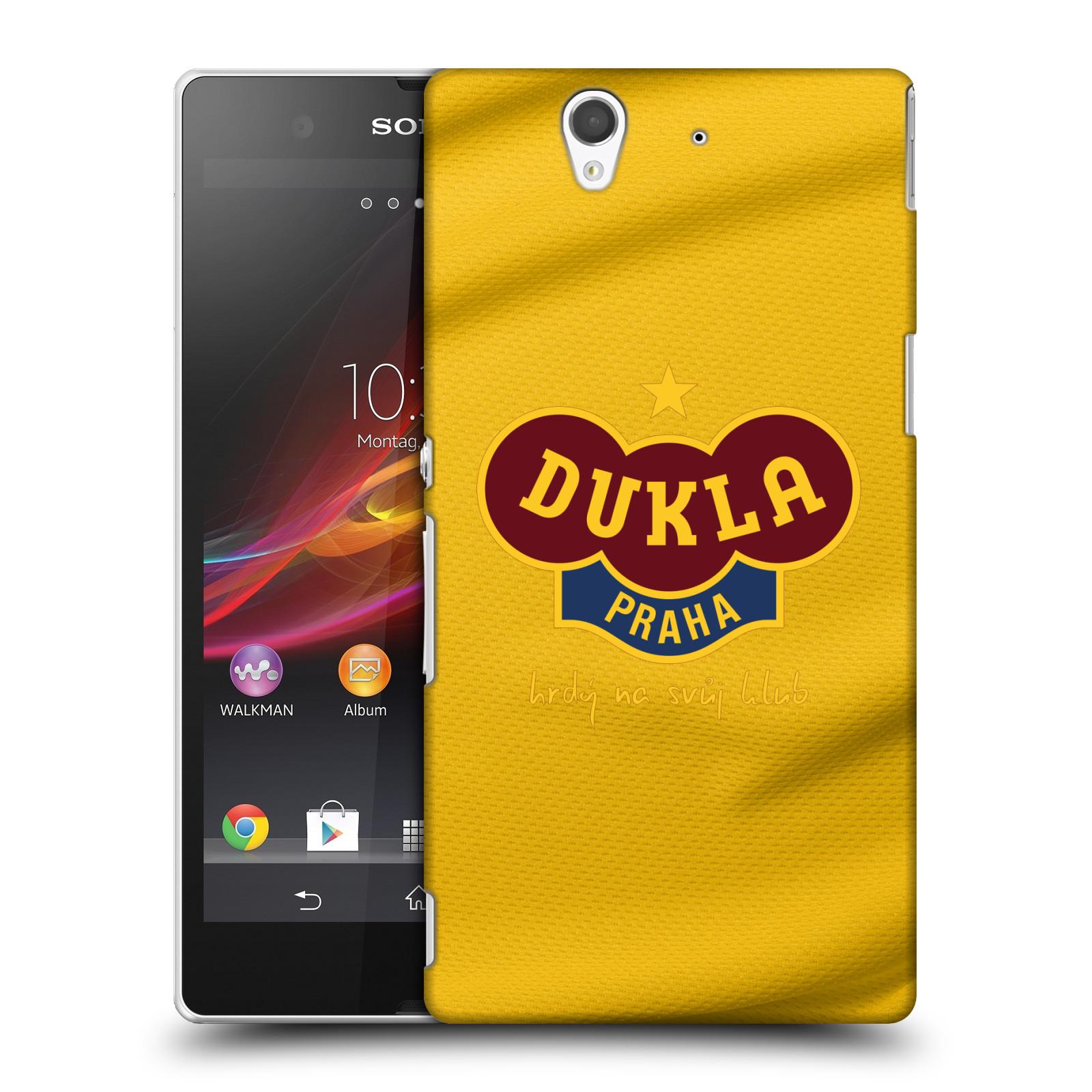 Plastové pouzdro na mobil Sony Xperia Z C6603 - FK Dukla Praha - Žlutý dres