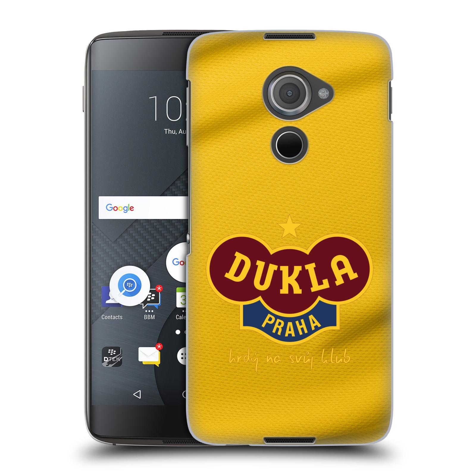 Plastové pouzdro na mobil Blackberry DTEK60 (Argon) - FK Dukla Praha - Žlutý dres