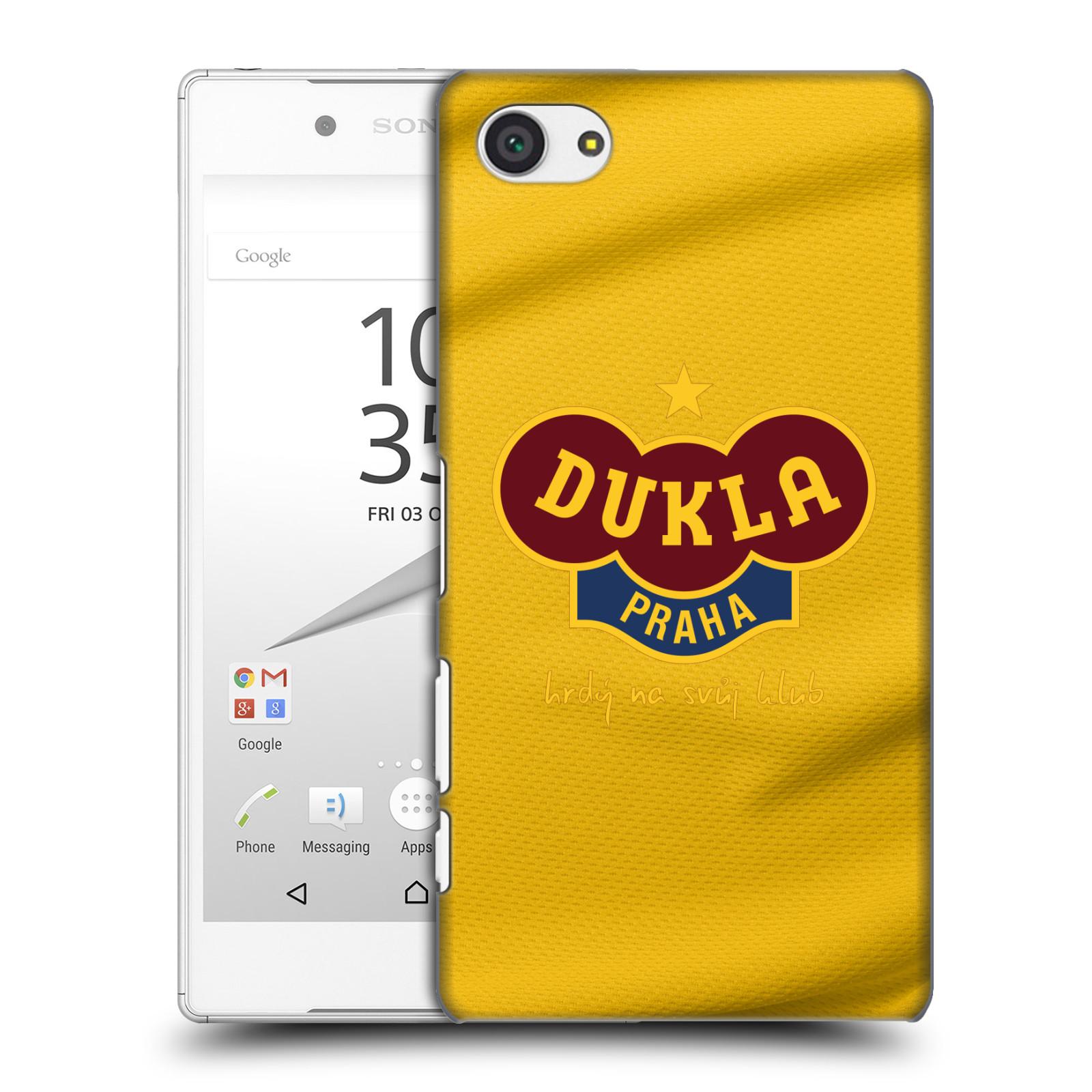 Plastové pouzdro na mobil Sony Xperia Z5 Compact - FK Dukla Praha - Žlutý dres