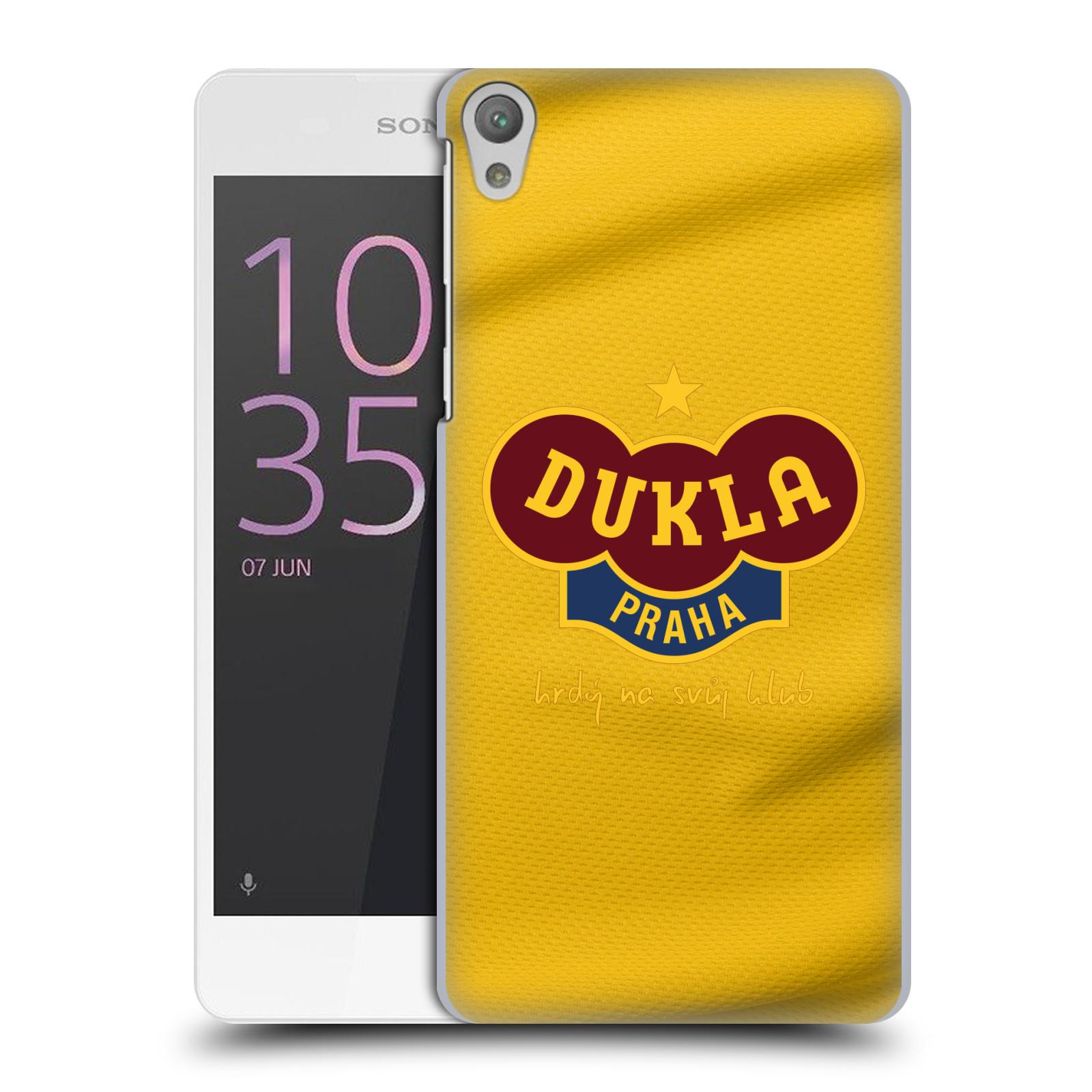 Plastové pouzdro na mobil Sony Xperia E5 - FK Dukla Praha - Žlutý dres
